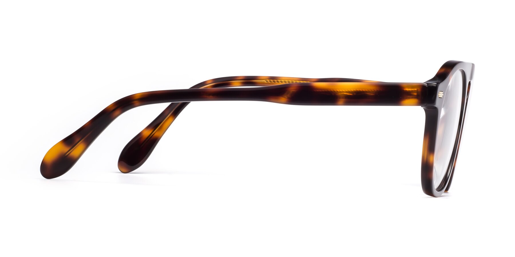 Side of Mufasa in Tortoise with Clear Eyeglass Lenses