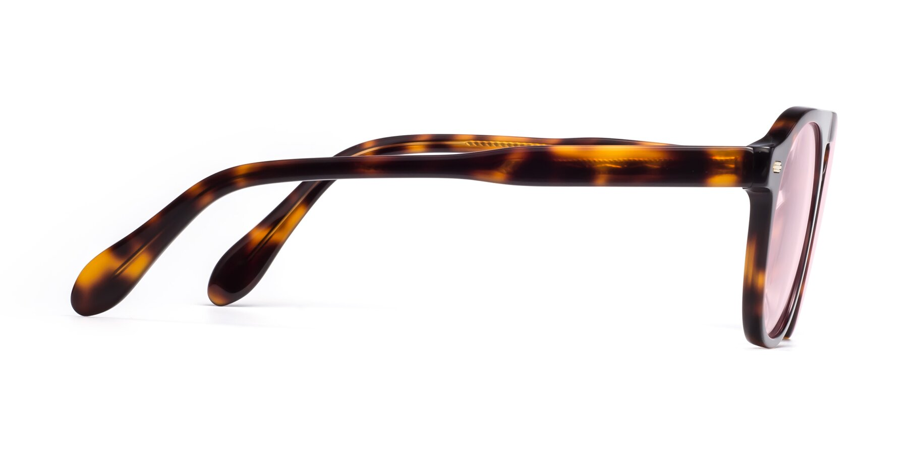 Side of Mufasa in Tortoise with Light Pink Tinted Lenses
