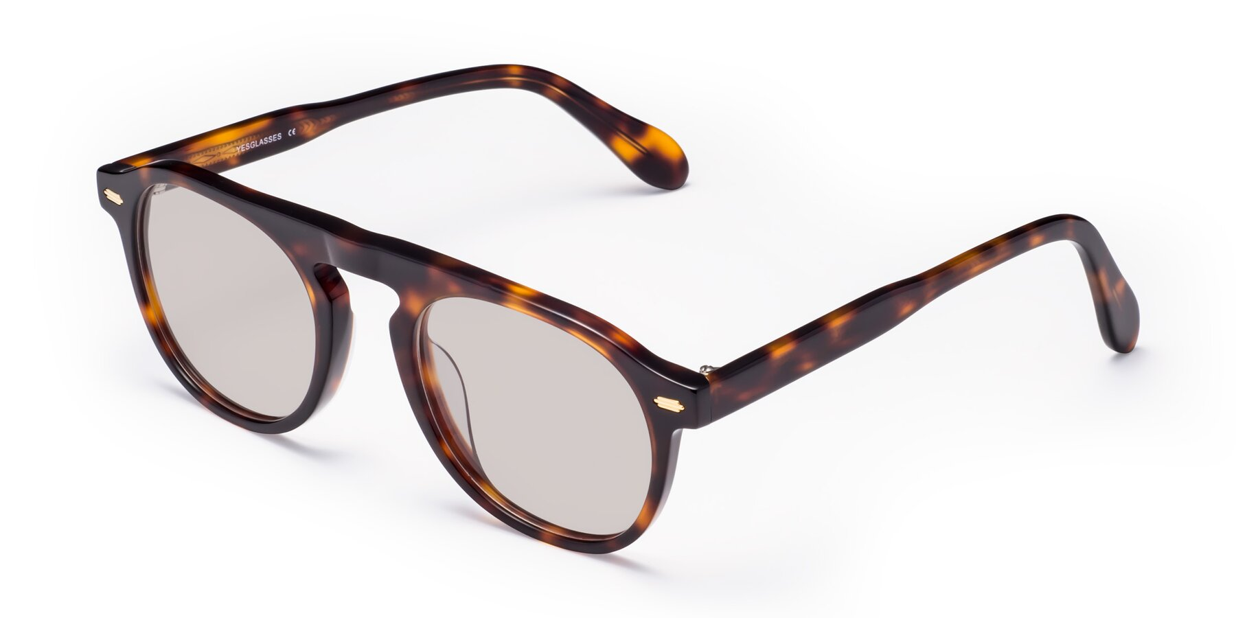 Angle of Mufasa in Tortoise with Light Brown Tinted Lenses