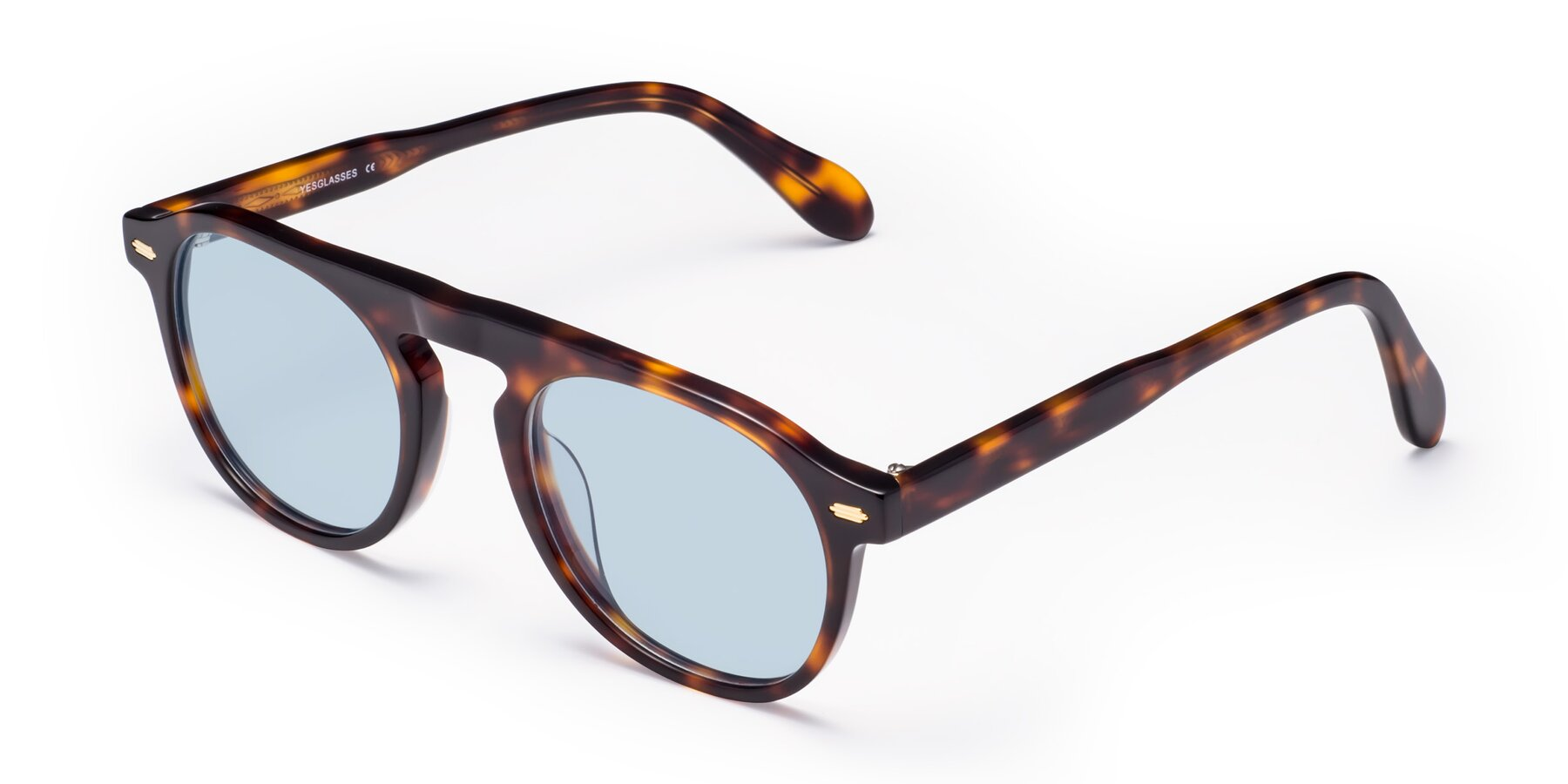 Angle of Mufasa in Tortoise with Light Blue Tinted Lenses
