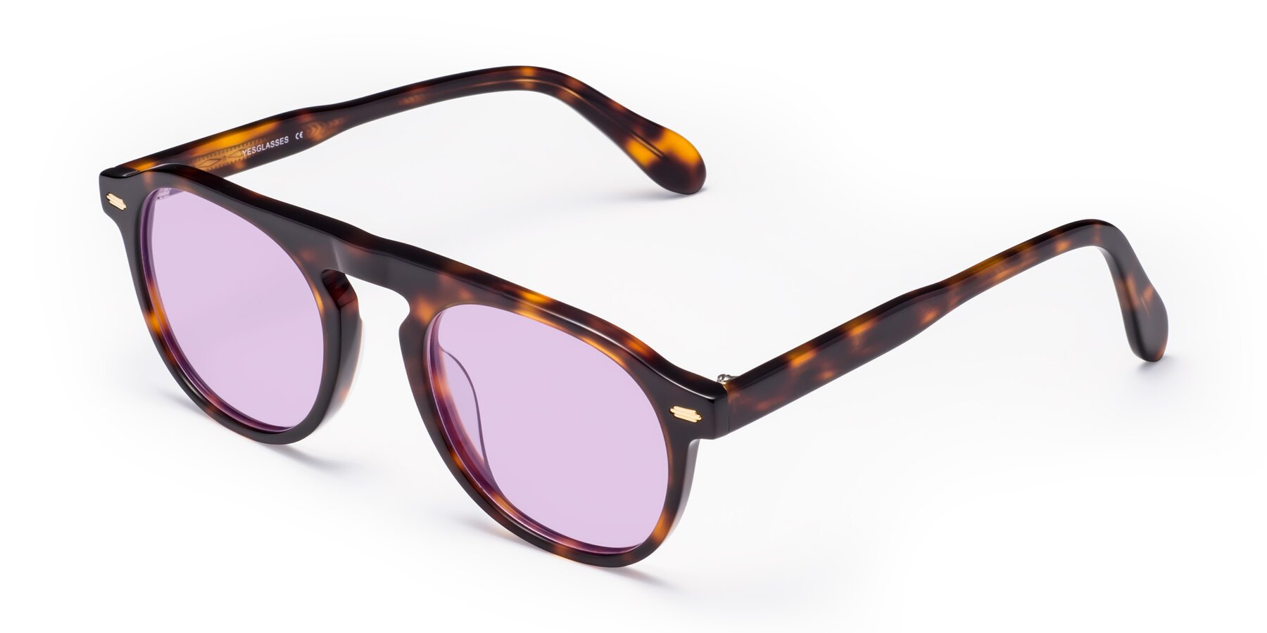 Angle of Mufasa in Tortoise with Light Purple Tinted Lenses