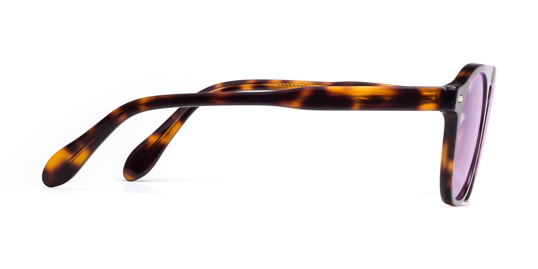 Side of Mufasa in Tortoise with Light Purple Tinted Lenses