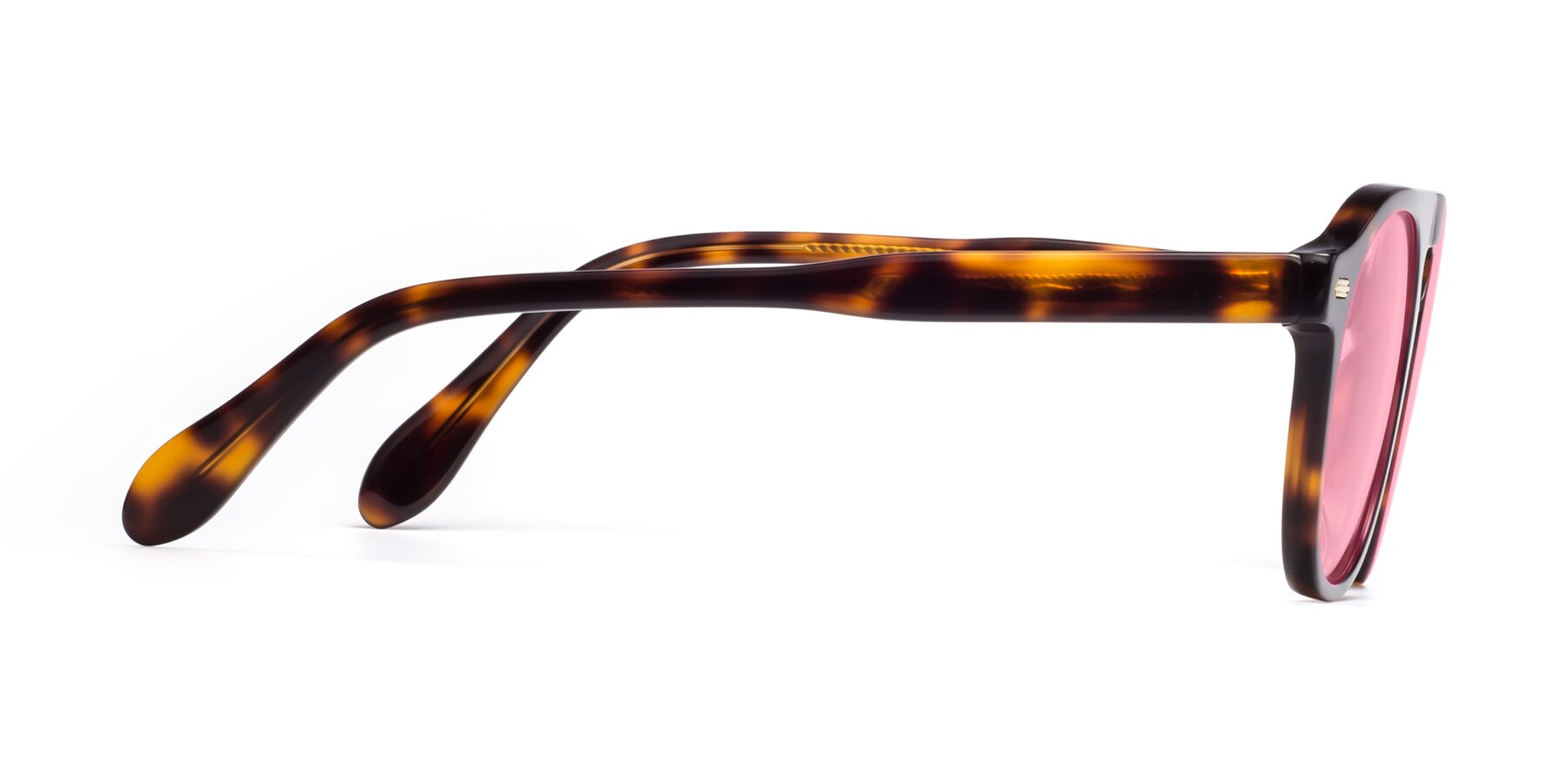 Side of Mufasa in Tortoise with Medium Pink Tinted Lenses