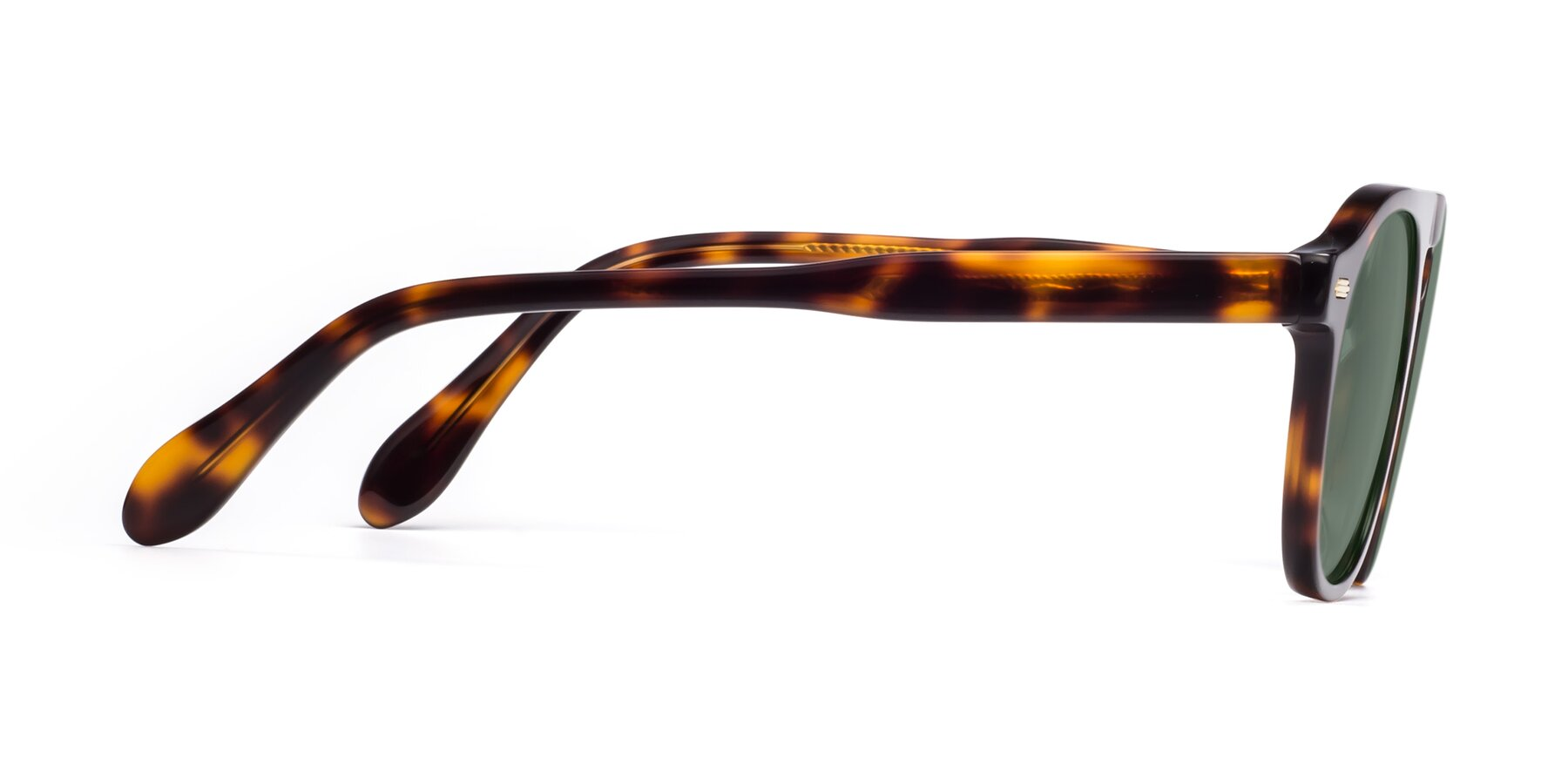 Side of Mufasa in Tortoise with Medium Green Tinted Lenses