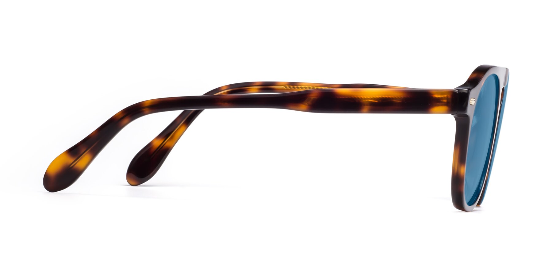 Side of Mufasa in Tortoise with Medium Blue Tinted Lenses