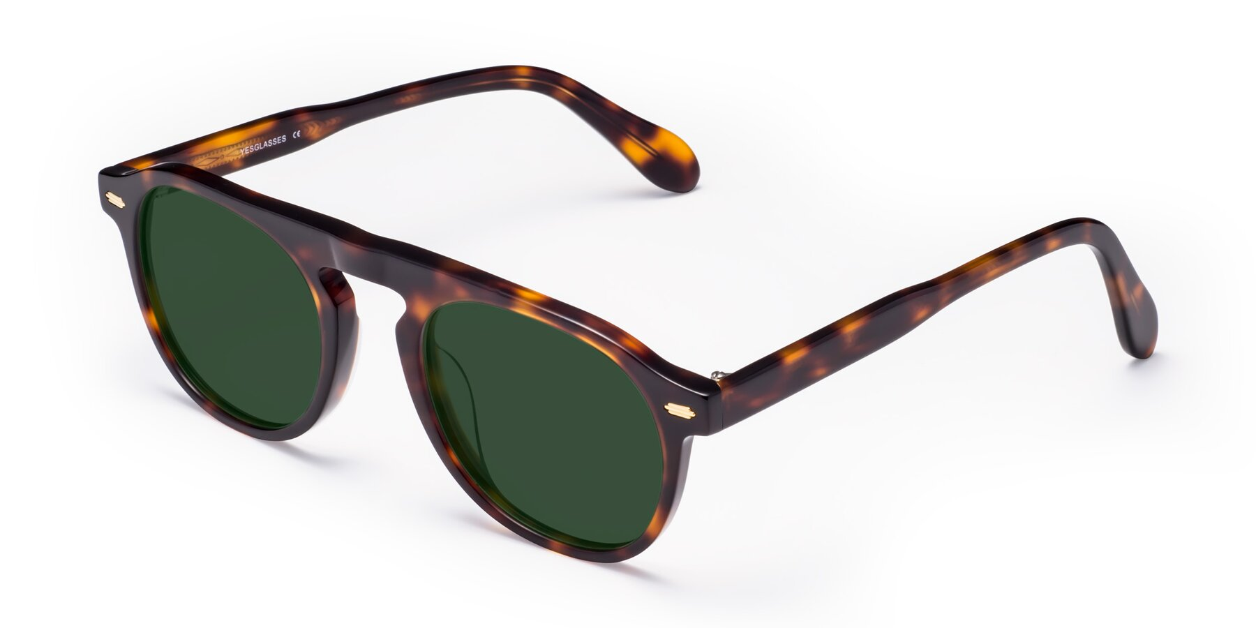 Angle of Mufasa in Tortoise with Green Tinted Lenses