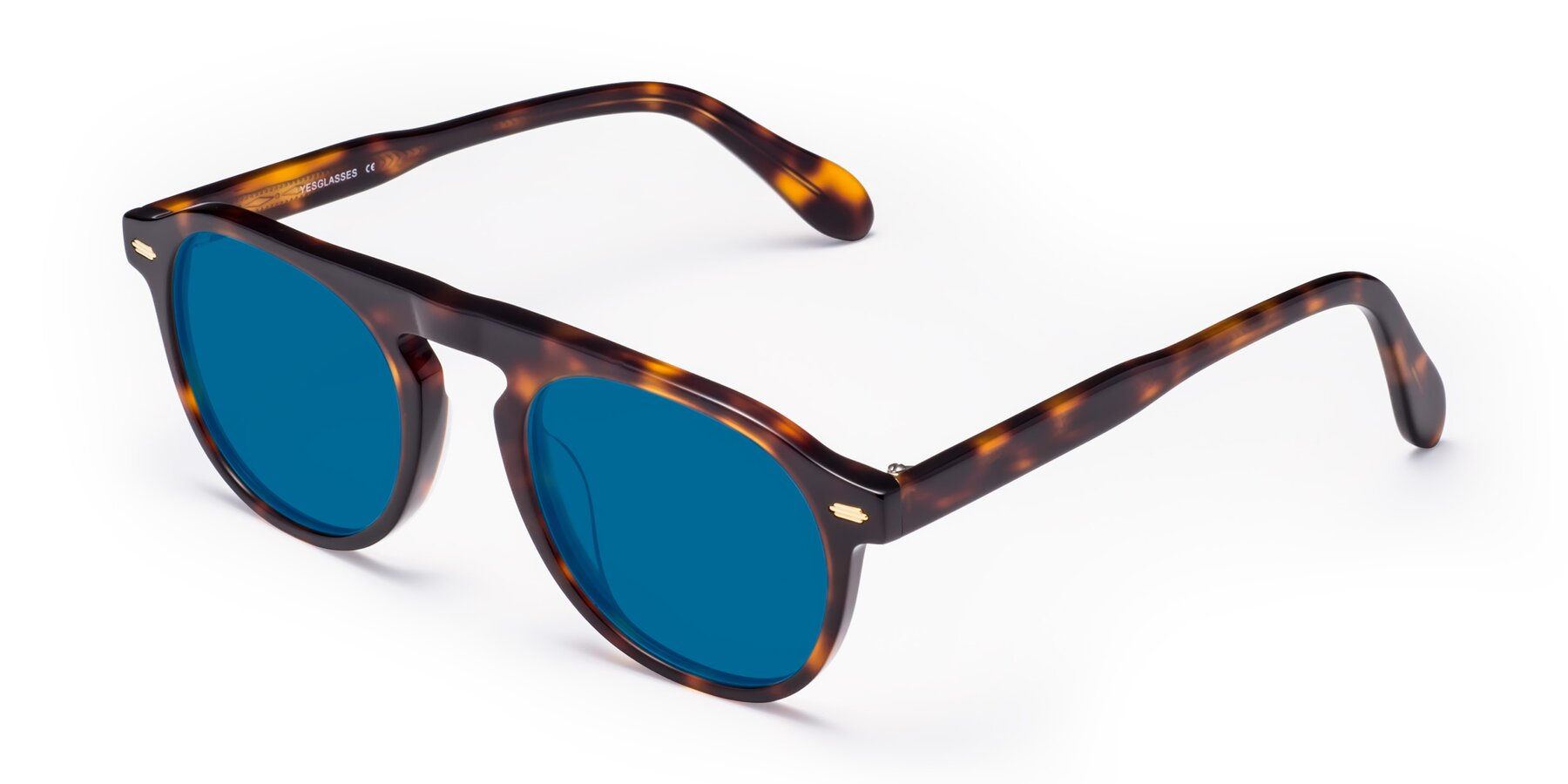 Angle of Mufasa in Tortoise with Blue Tinted Lenses
