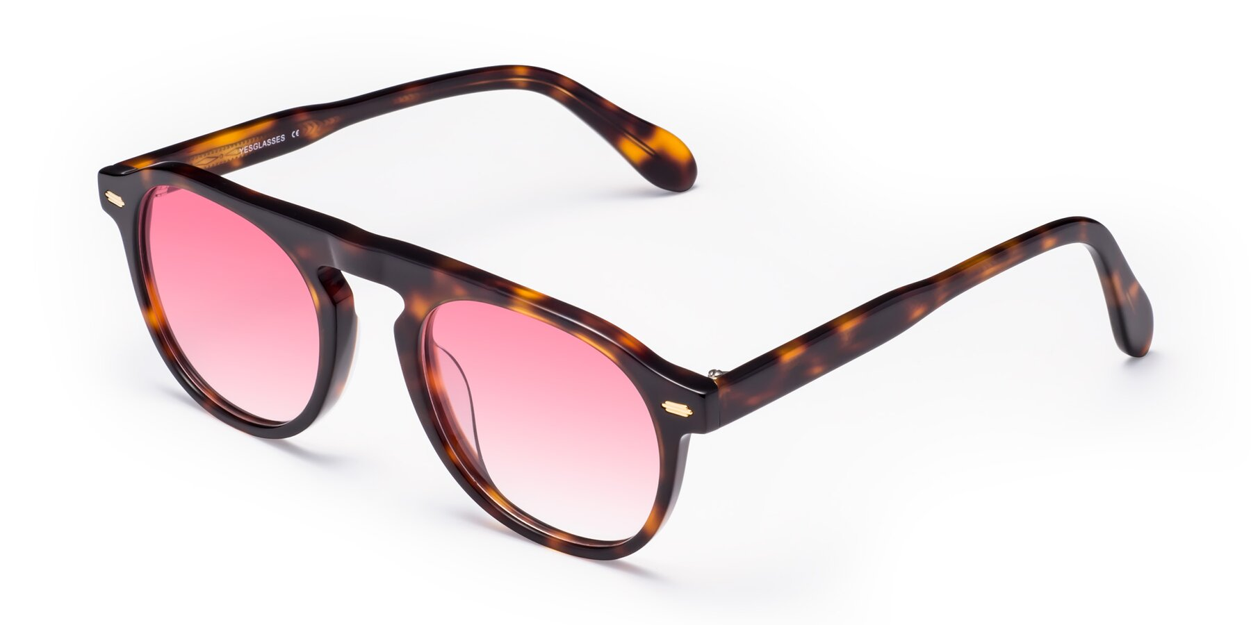 Angle of Mufasa in Tortoise with Pink Gradient Lenses