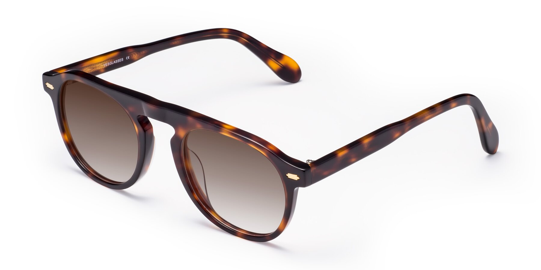 Angle of Mufasa in Tortoise with Brown Gradient Lenses