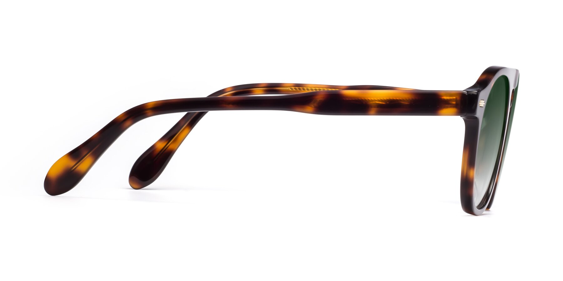 Side of Mufasa in Tortoise with Green Gradient Lenses