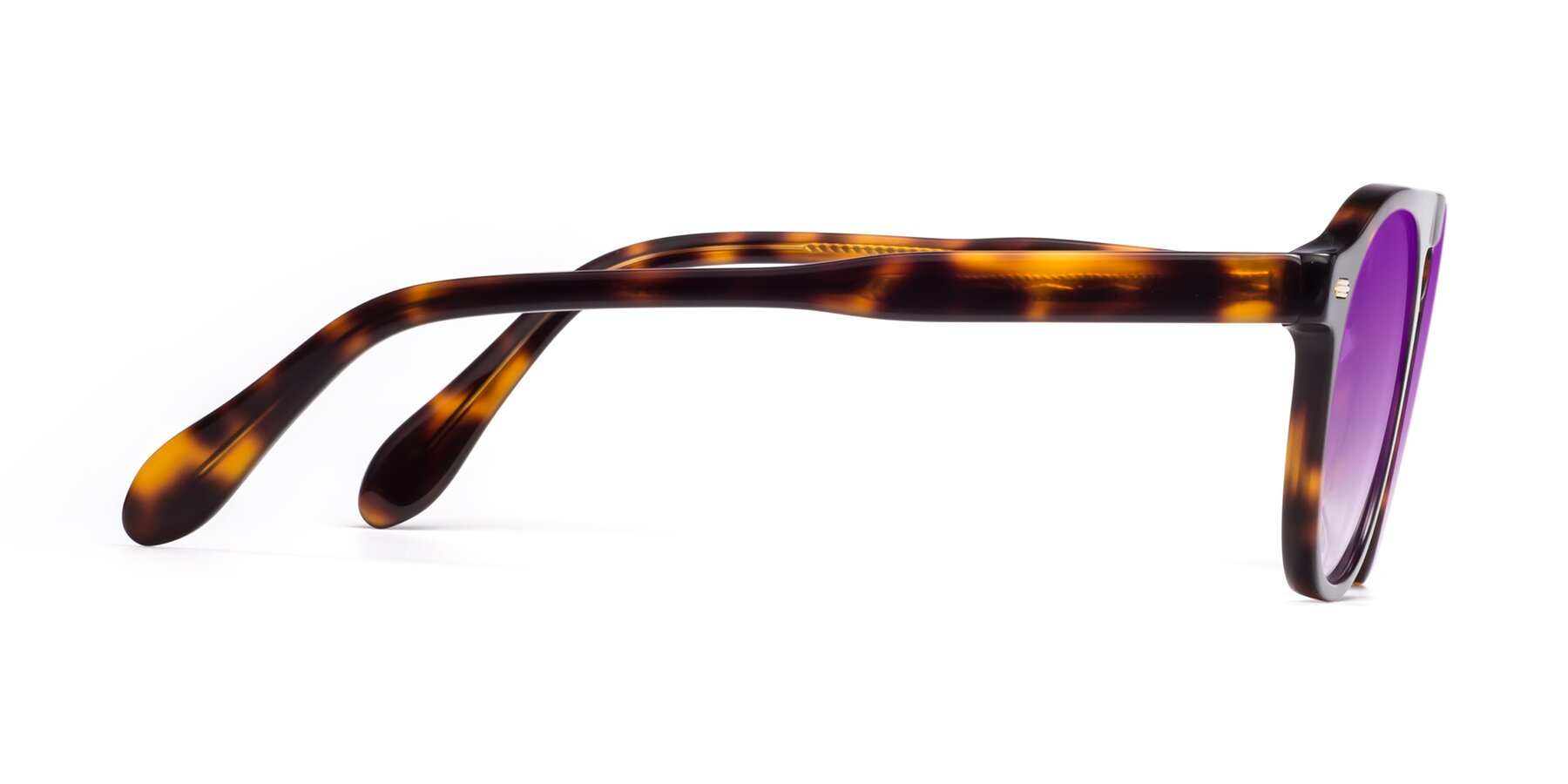 Side of Mufasa in Tortoise with Purple Gradient Lenses