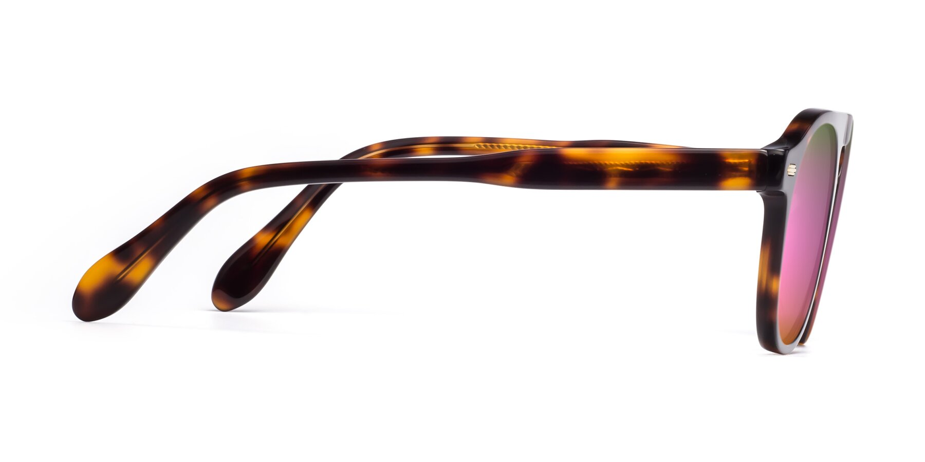 Side of Mufasa in Tortoise with Pink Mirrored Lenses