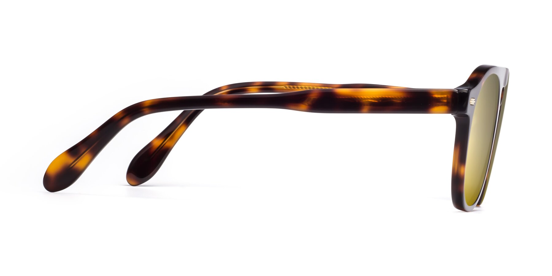 Side of Mufasa in Tortoise with Gold Mirrored Lenses