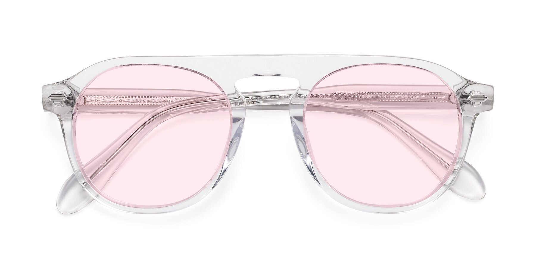 Folded Front of Mufasa in Clear with Light Pink Tinted Lenses