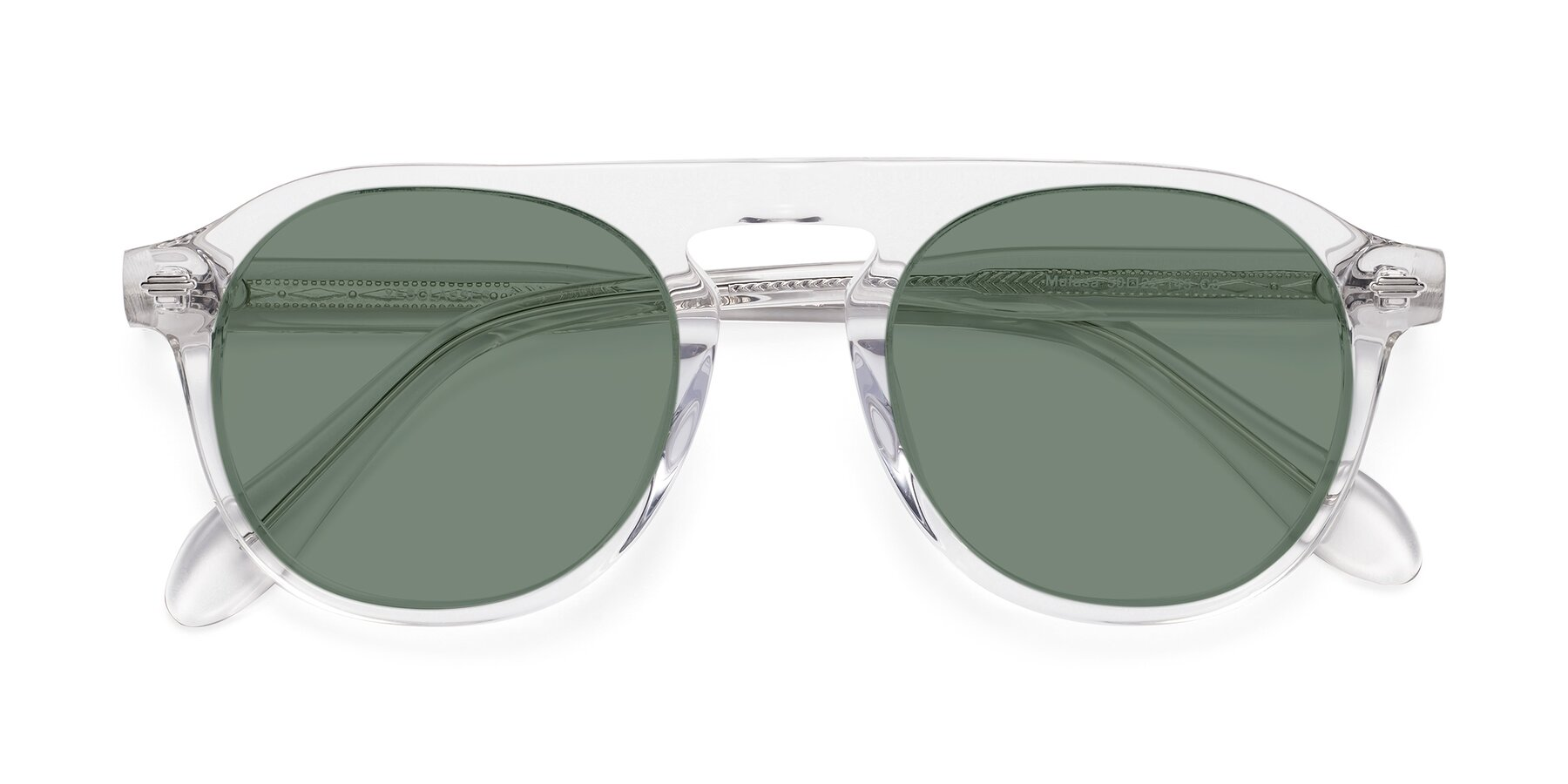 Folded Front of Mufasa in Clear with Medium Green Tinted Lenses