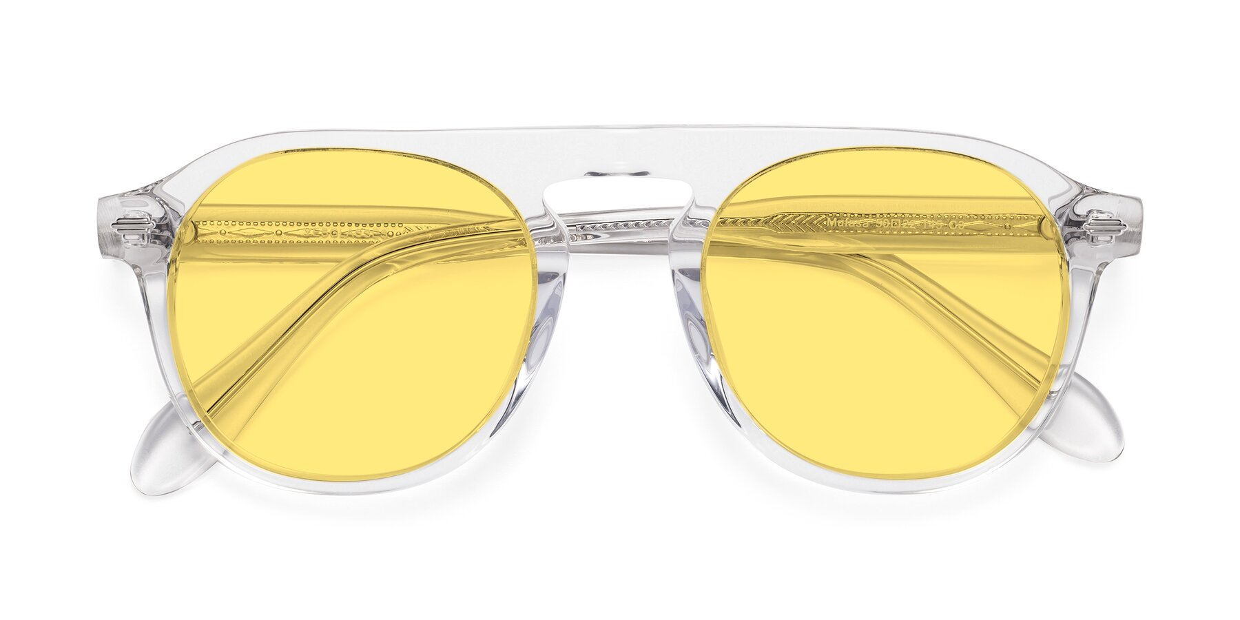Folded Front of Mufasa in Clear with Medium Yellow Tinted Lenses