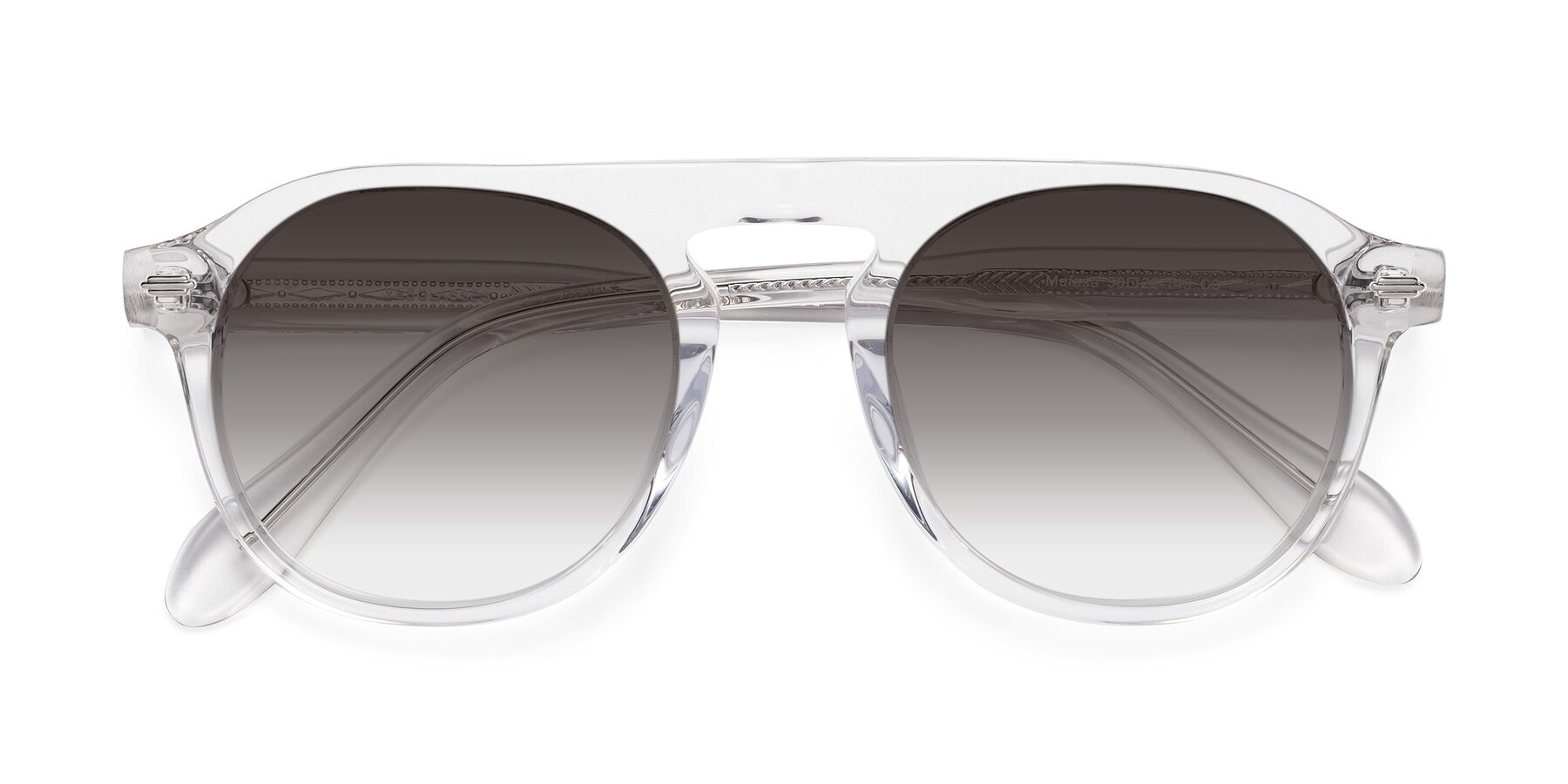 Folded Front of Mufasa in Clear with Gray Gradient Lenses