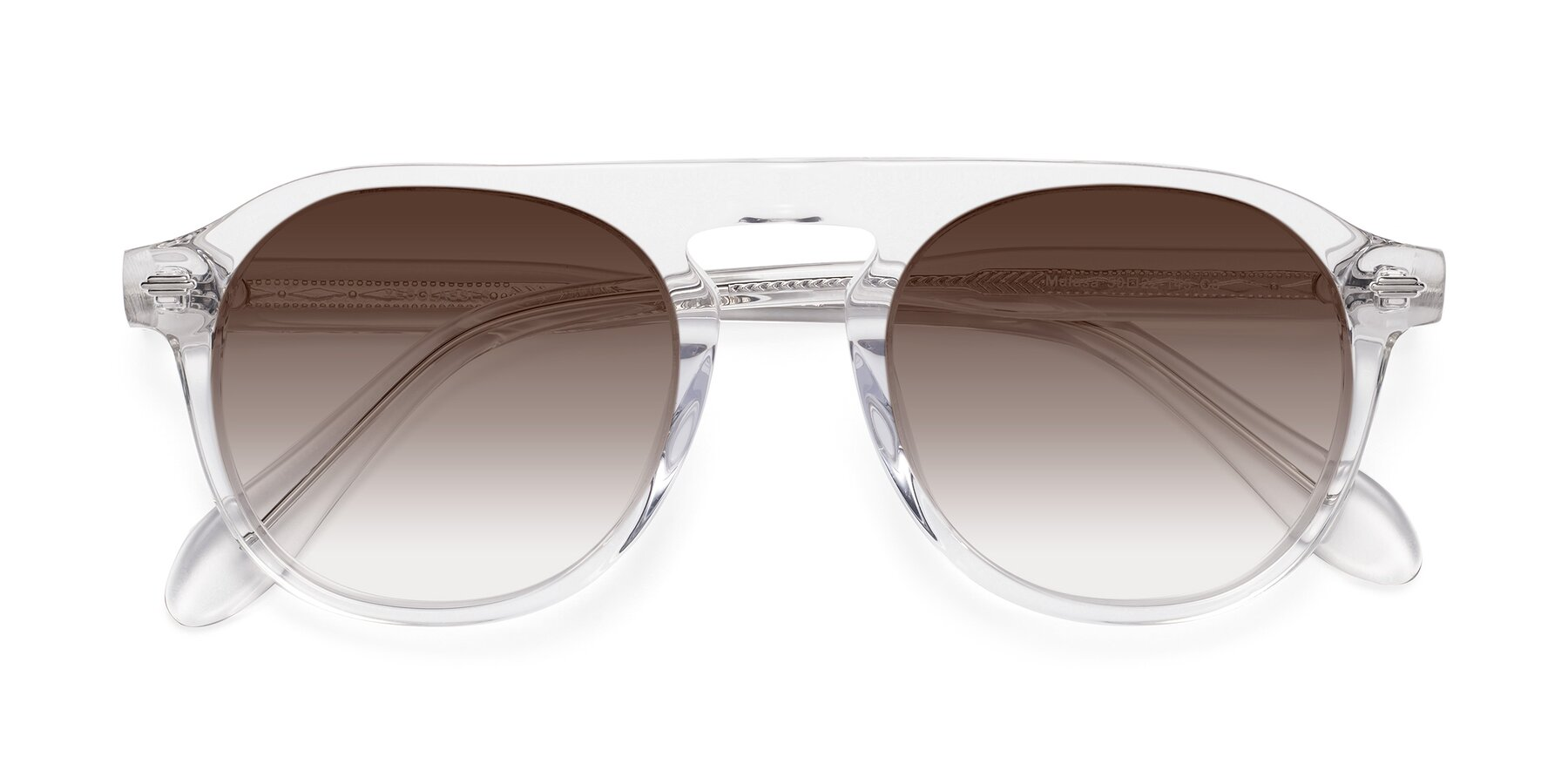 Folded Front of Mufasa in Clear with Brown Gradient Lenses