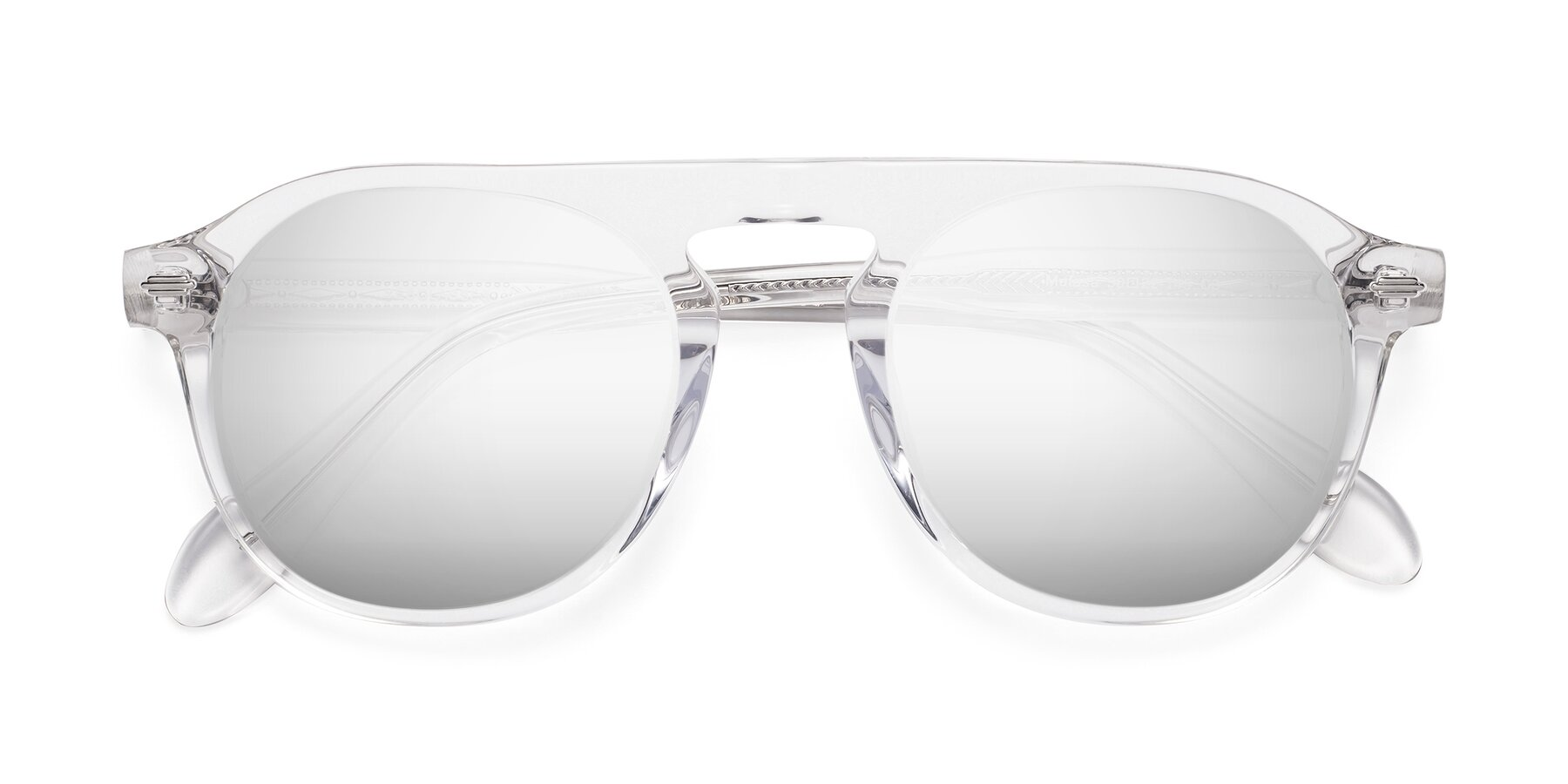 Folded Front of Mufasa in Clear with Silver Mirrored Lenses