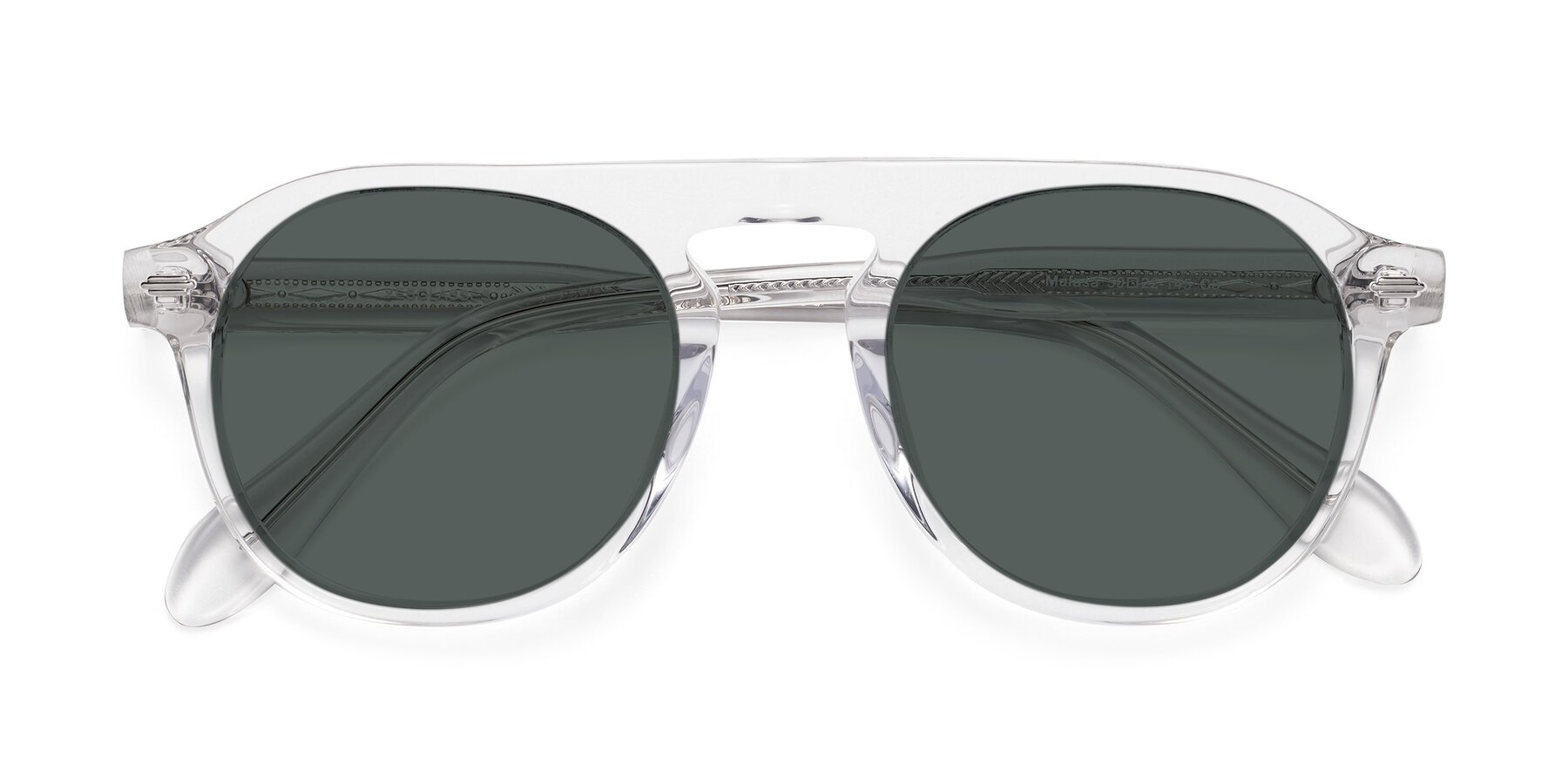 Folded Front of Mufasa in Clear with Gray Polarized Lenses