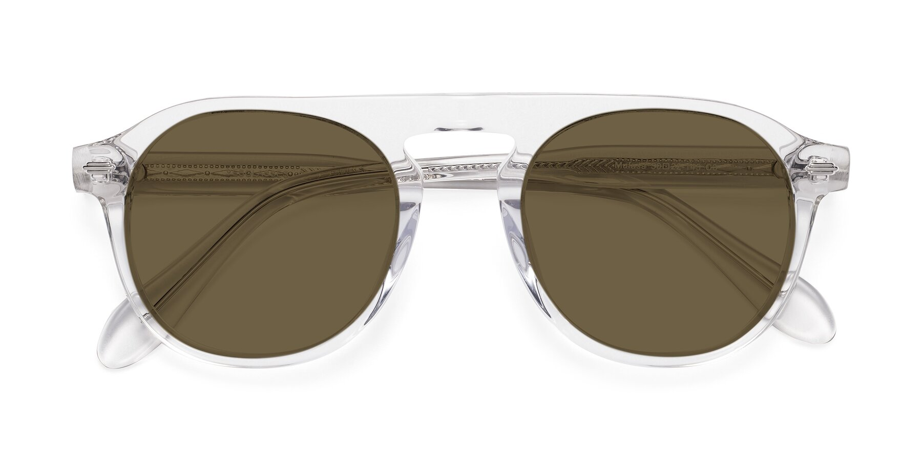 Folded Front of Mufasa in Clear with Brown Polarized Lenses