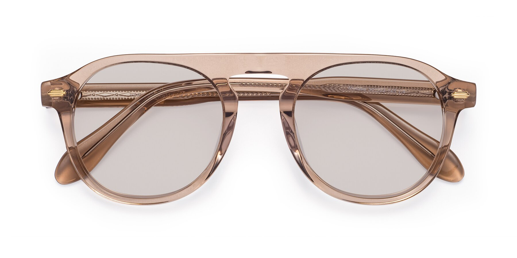 Folded Front of Mufasa in light Brown with Light Brown Tinted Lenses