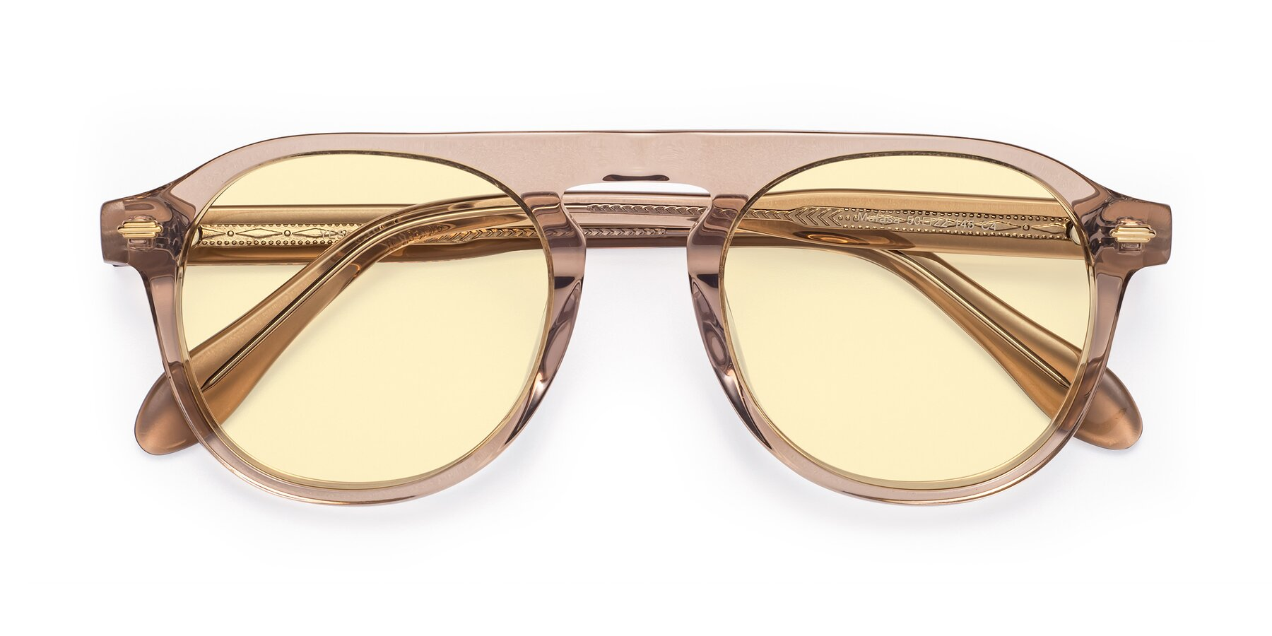 Folded Front of Mufasa in light Brown with Light Yellow Tinted Lenses