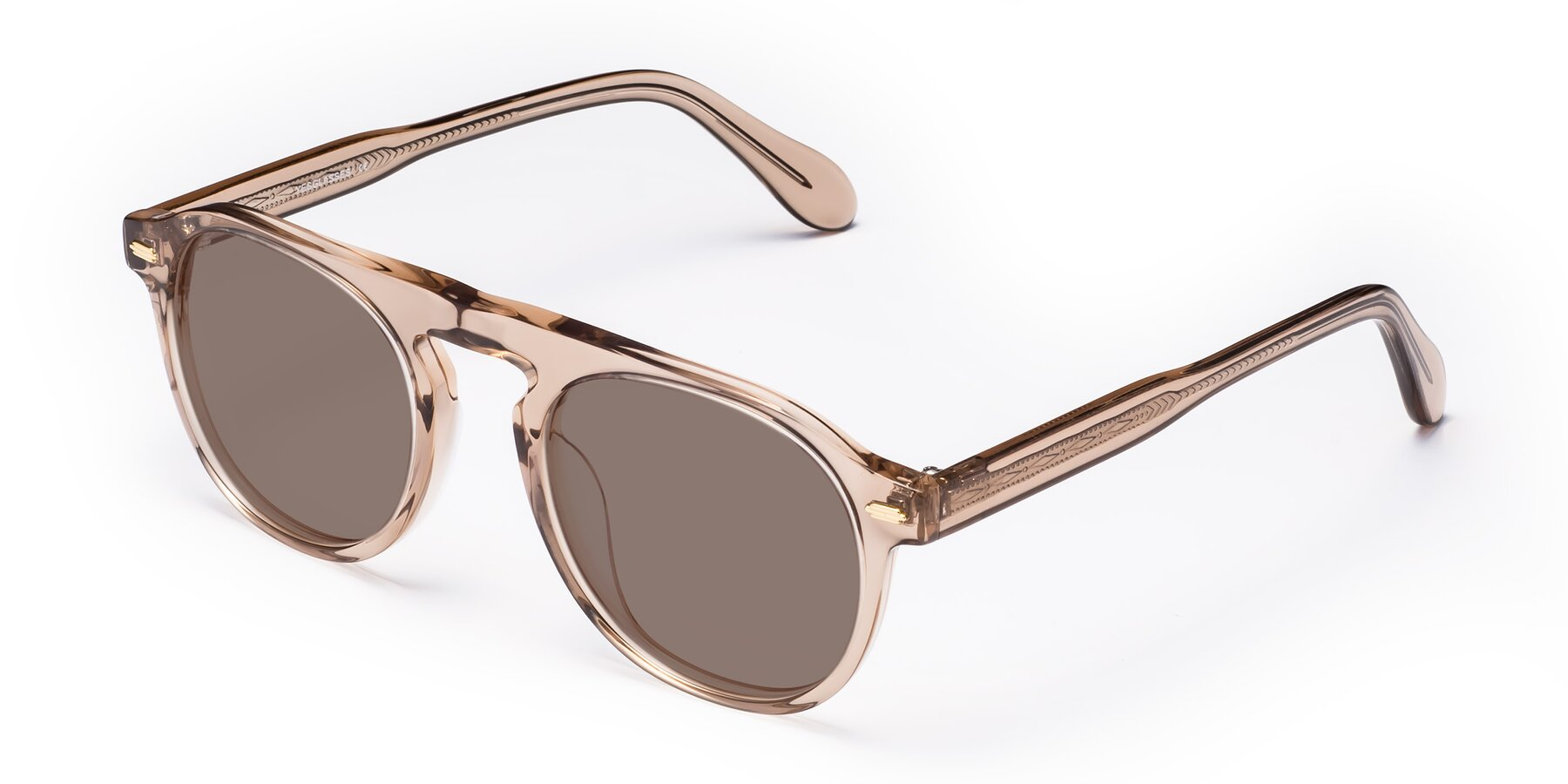 Angle of Mufasa in light Brown with Medium Brown Tinted Lenses