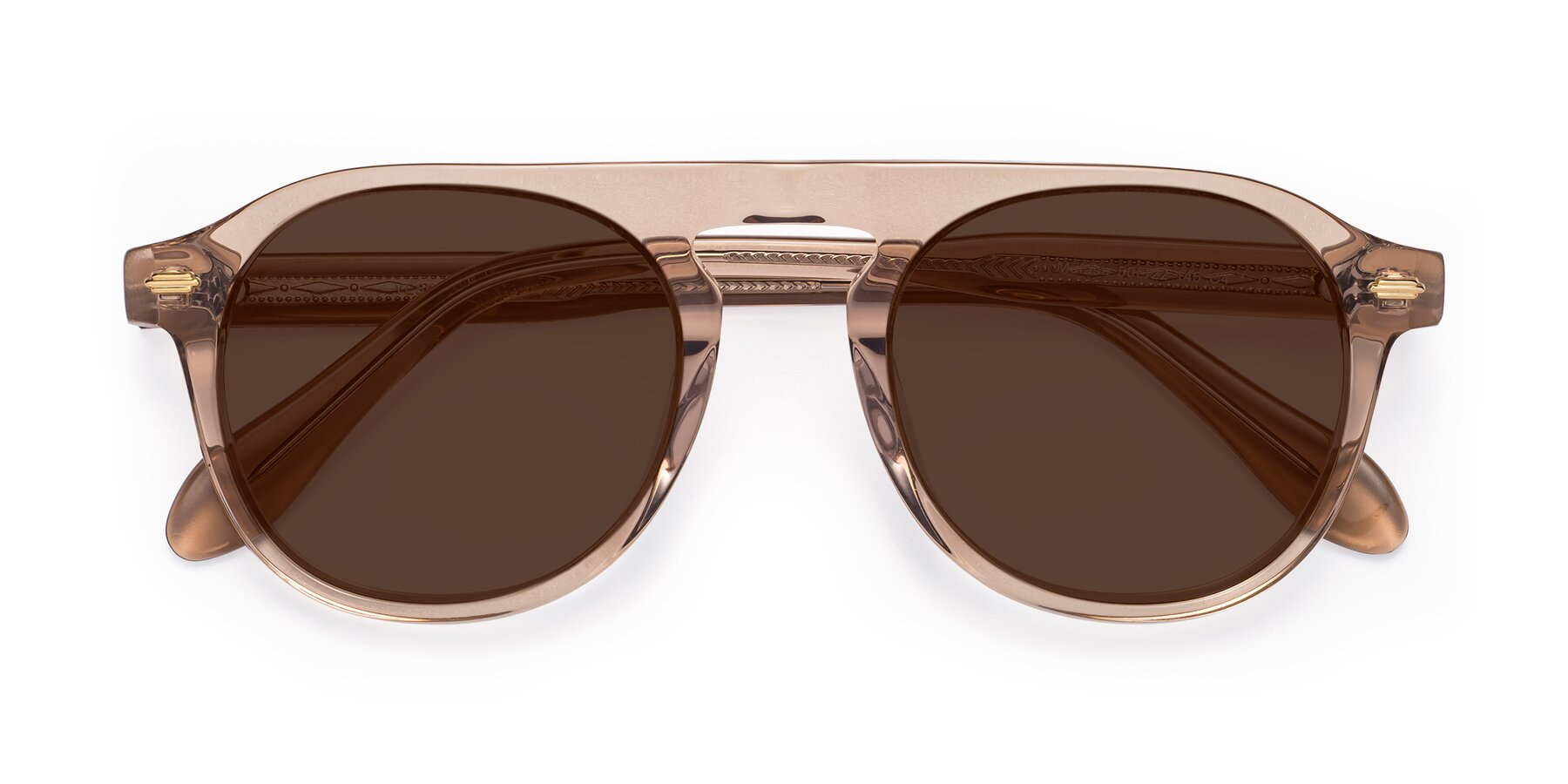 Folded Front of Mufasa in light Brown with Brown Tinted Lenses
