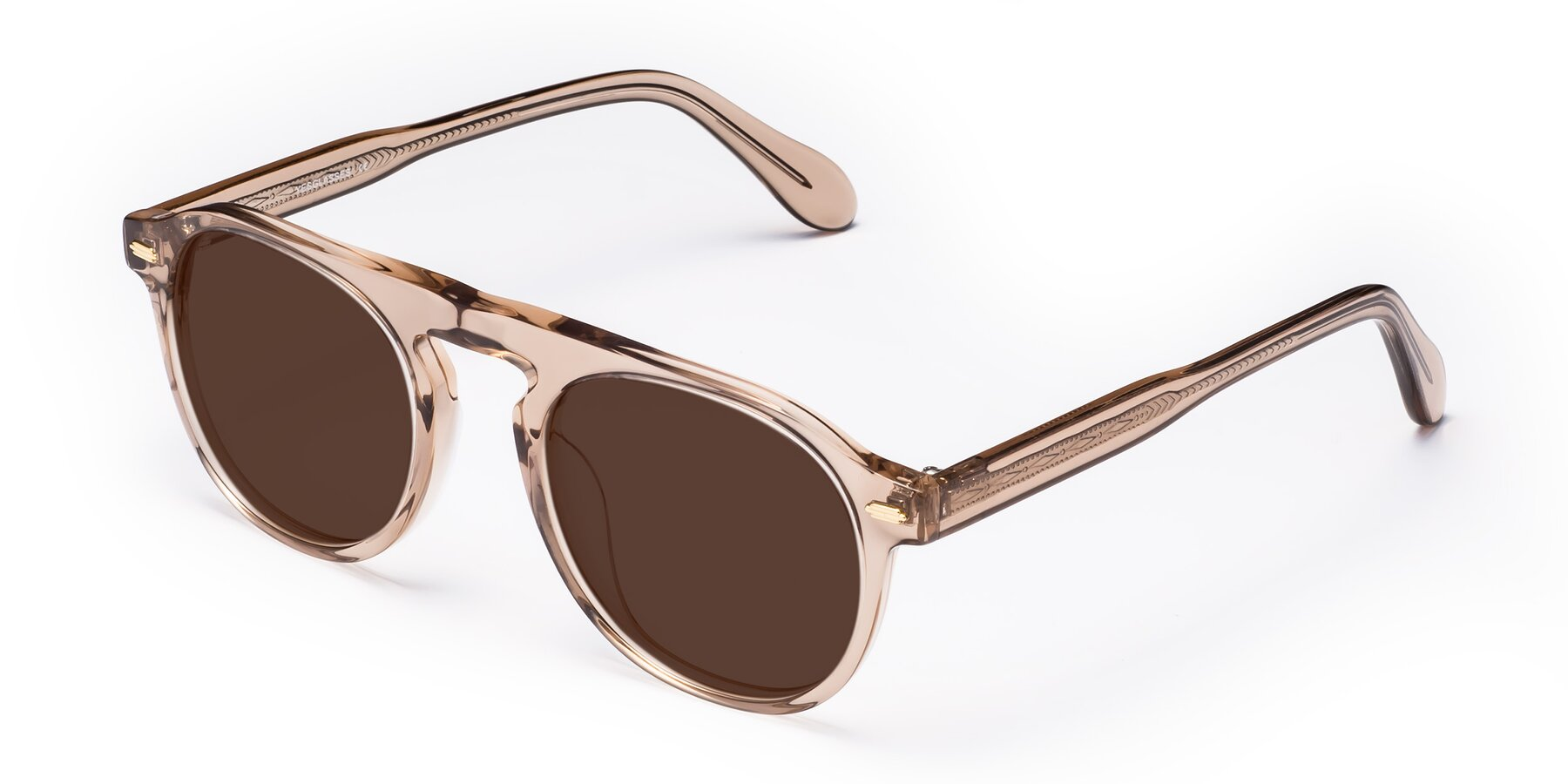 Angle of Mufasa in light Brown with Brown Tinted Lenses