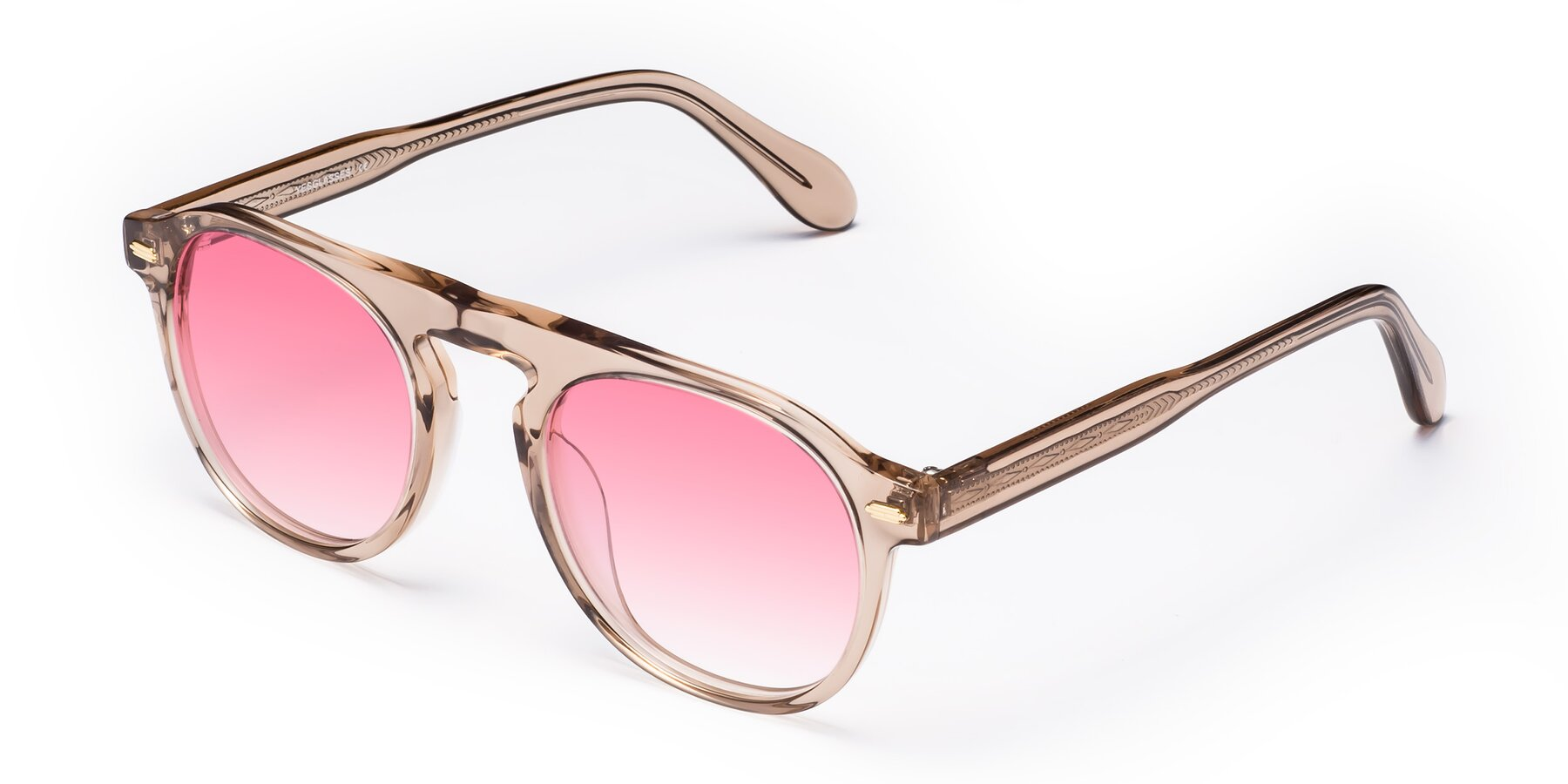 Angle of Mufasa in light Brown with Pink Gradient Lenses
