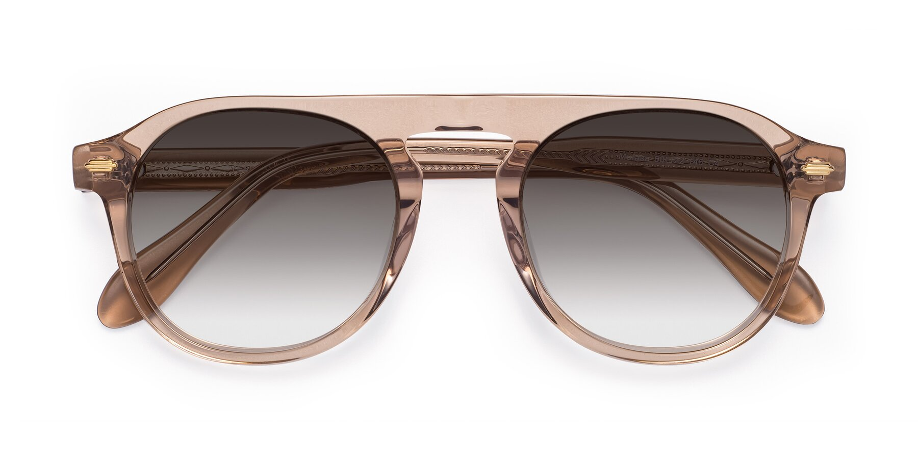 Folded Front of Mufasa in light Brown with Gray Gradient Lenses