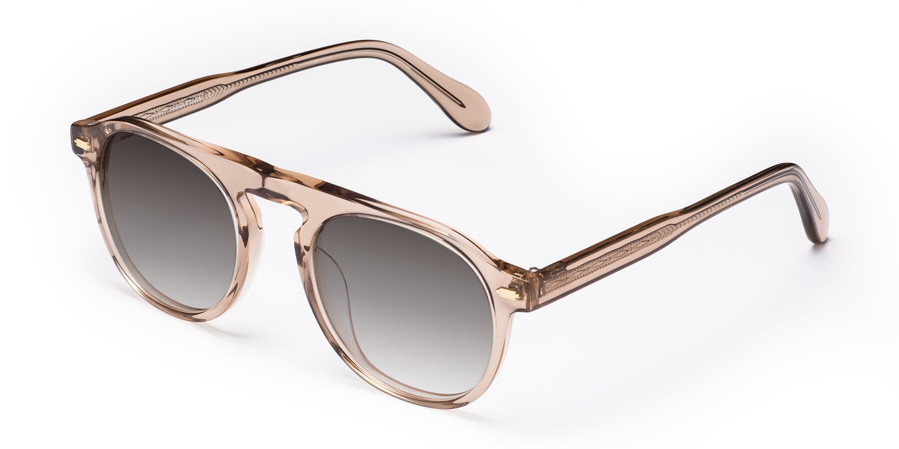 Angle of Mufasa in light Brown with Gray Gradient Lenses