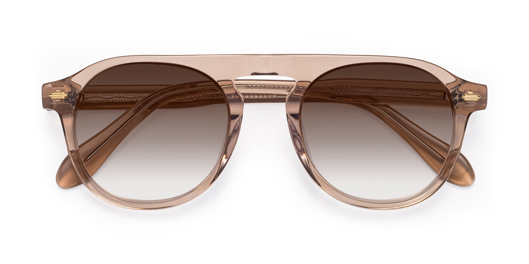 Folded Front of Mufasa in light Brown with Brown Gradient Lenses
