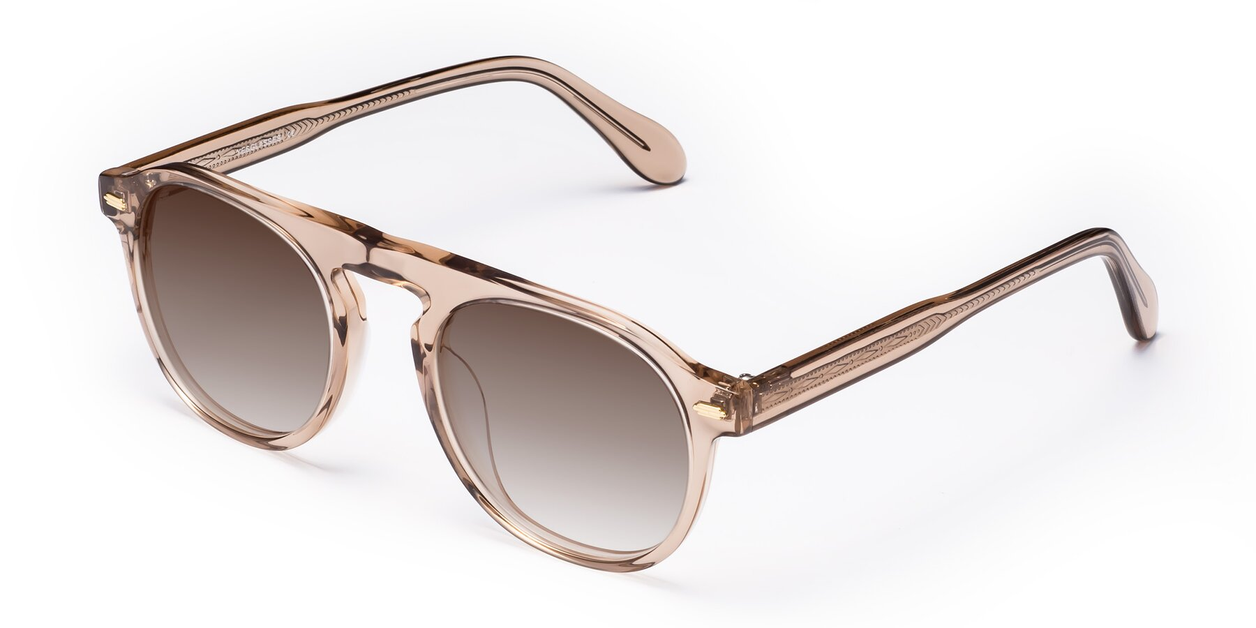 Angle of Mufasa in light Brown with Brown Gradient Lenses