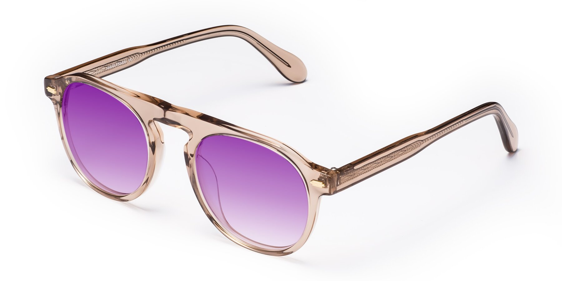 Angle of Mufasa in light Brown with Purple Gradient Lenses