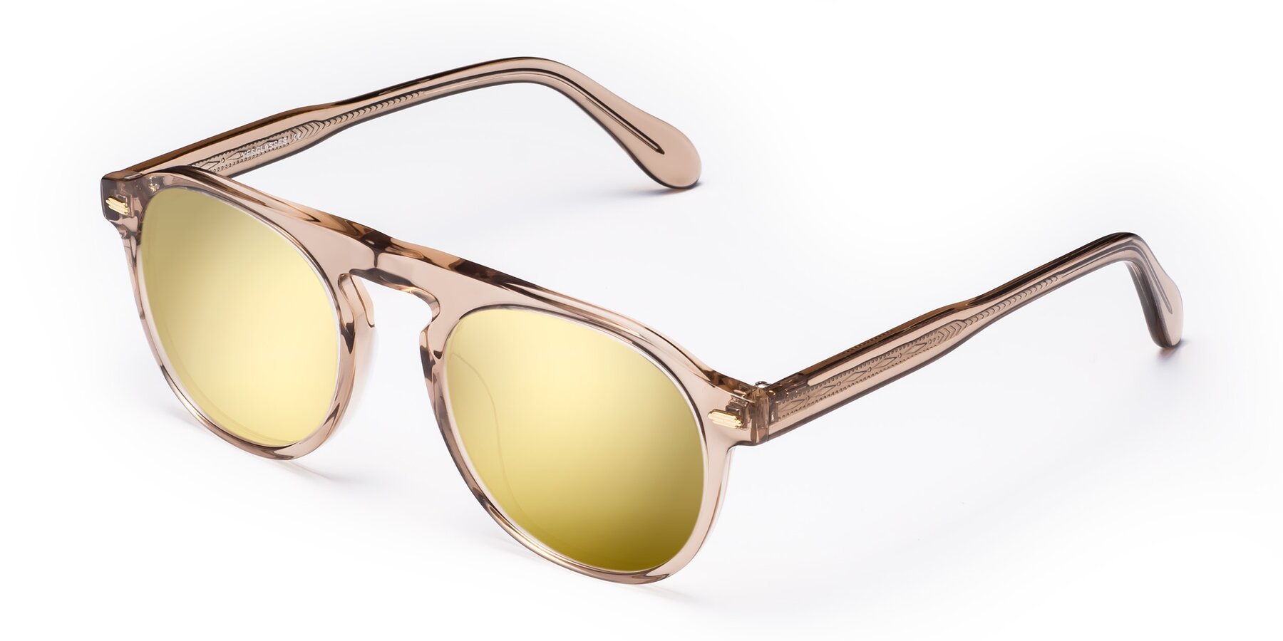 Angle of Mufasa in light Brown with Gold Mirrored Lenses