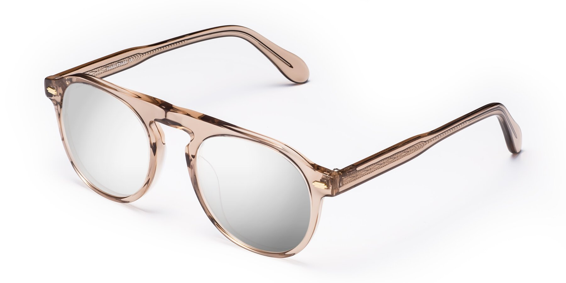 Angle of Mufasa in light Brown with Silver Mirrored Lenses