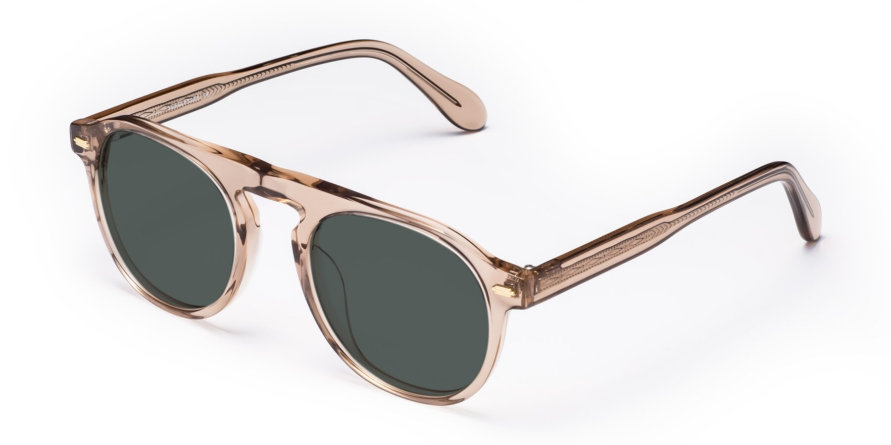 Angle of Mufasa in light Brown with Gray Polarized Lenses