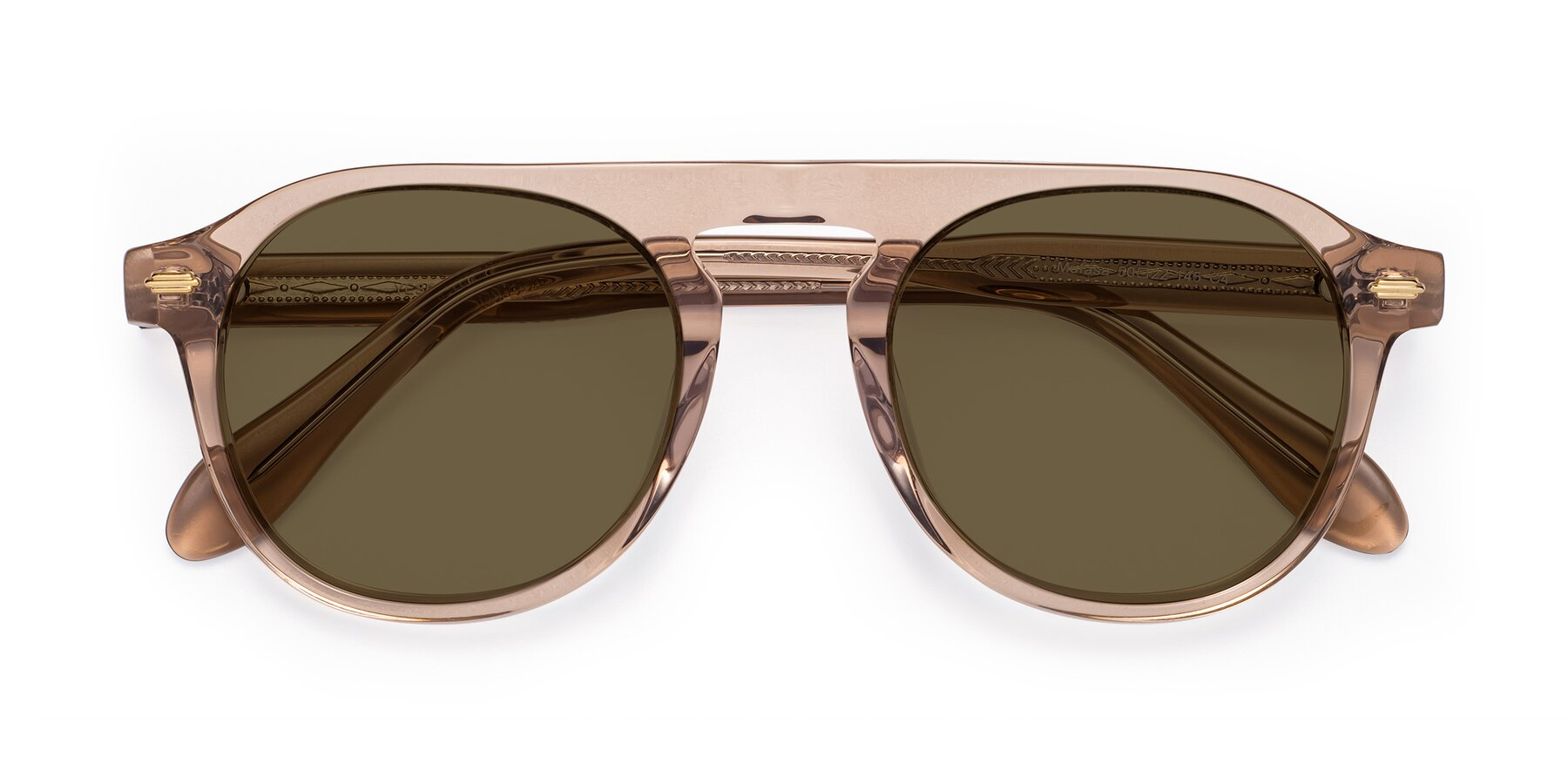 Folded Front of Mufasa in light Brown with Brown Polarized Lenses