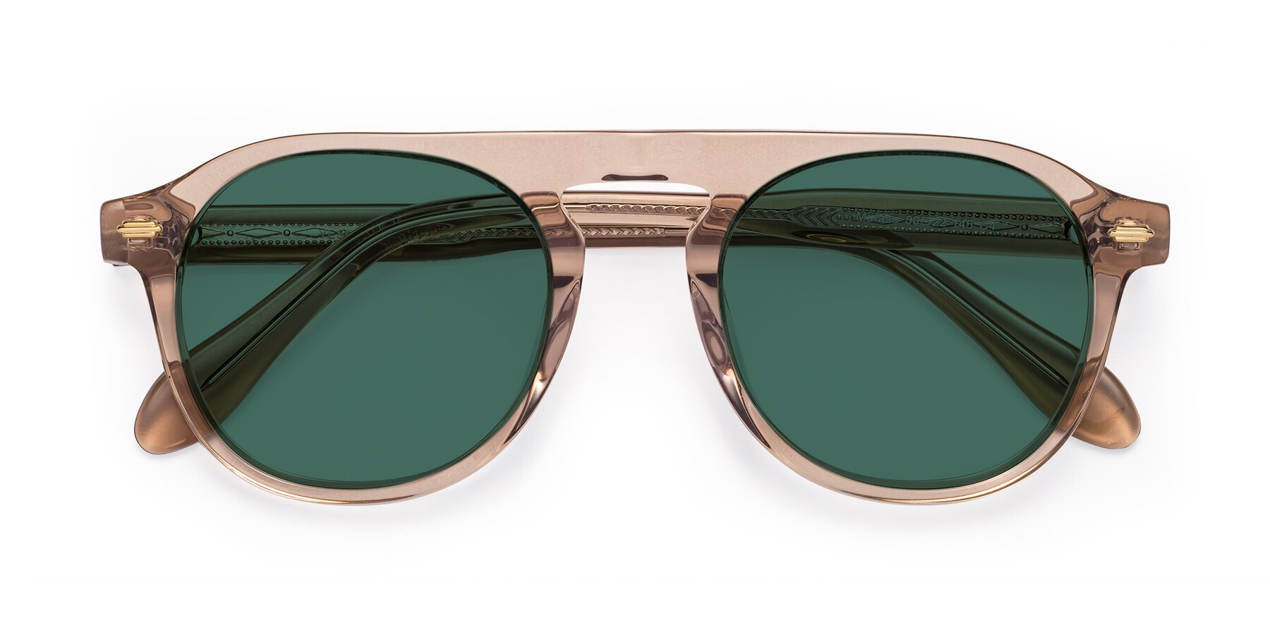 Folded Front of Mufasa in light Brown with Green Polarized Lenses