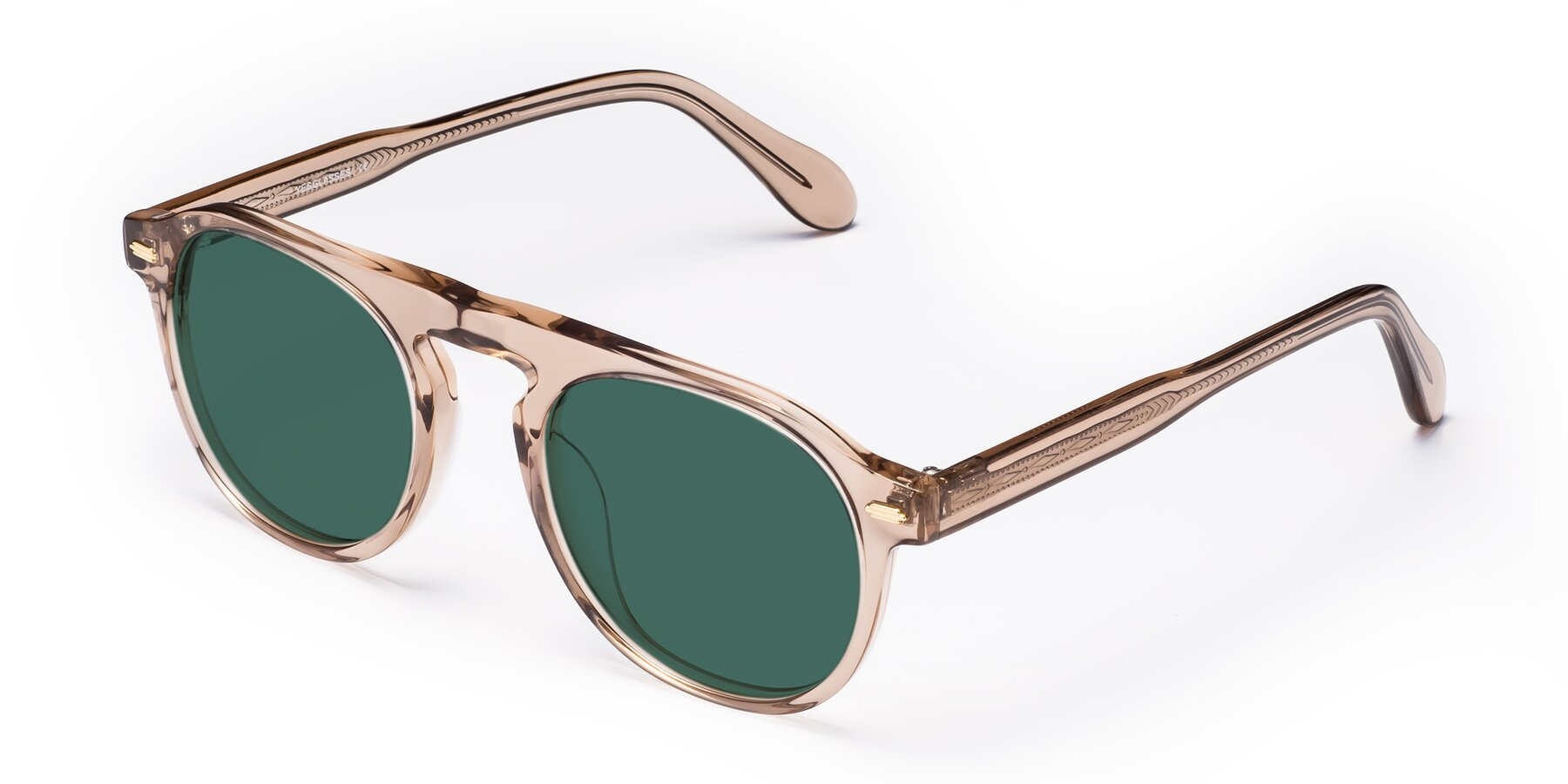 Angle of Mufasa in light Brown with Green Polarized Lenses