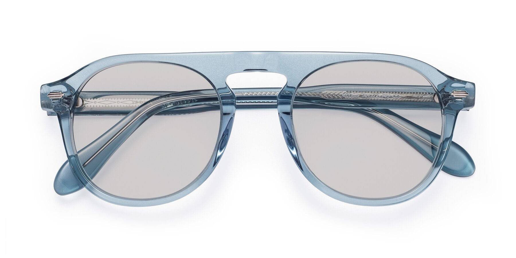 Folded Front of Mufasa in Light Blue with Light Gray Tinted Lenses