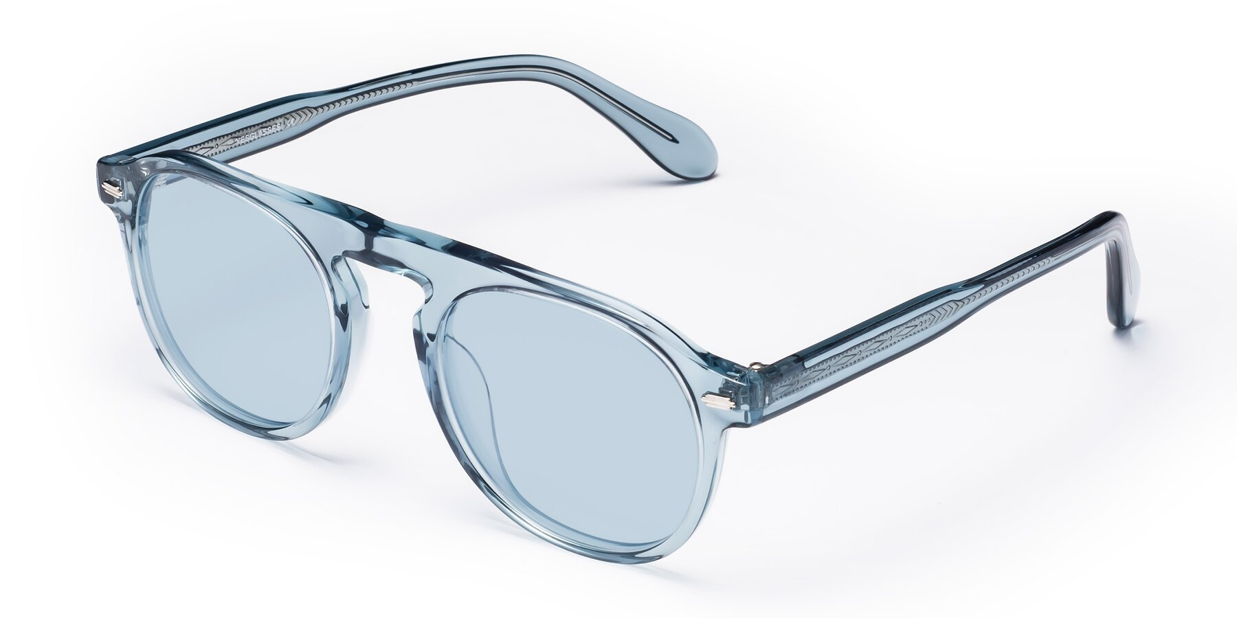 Angle of Mufasa in Light Blue with Light Blue Tinted Lenses