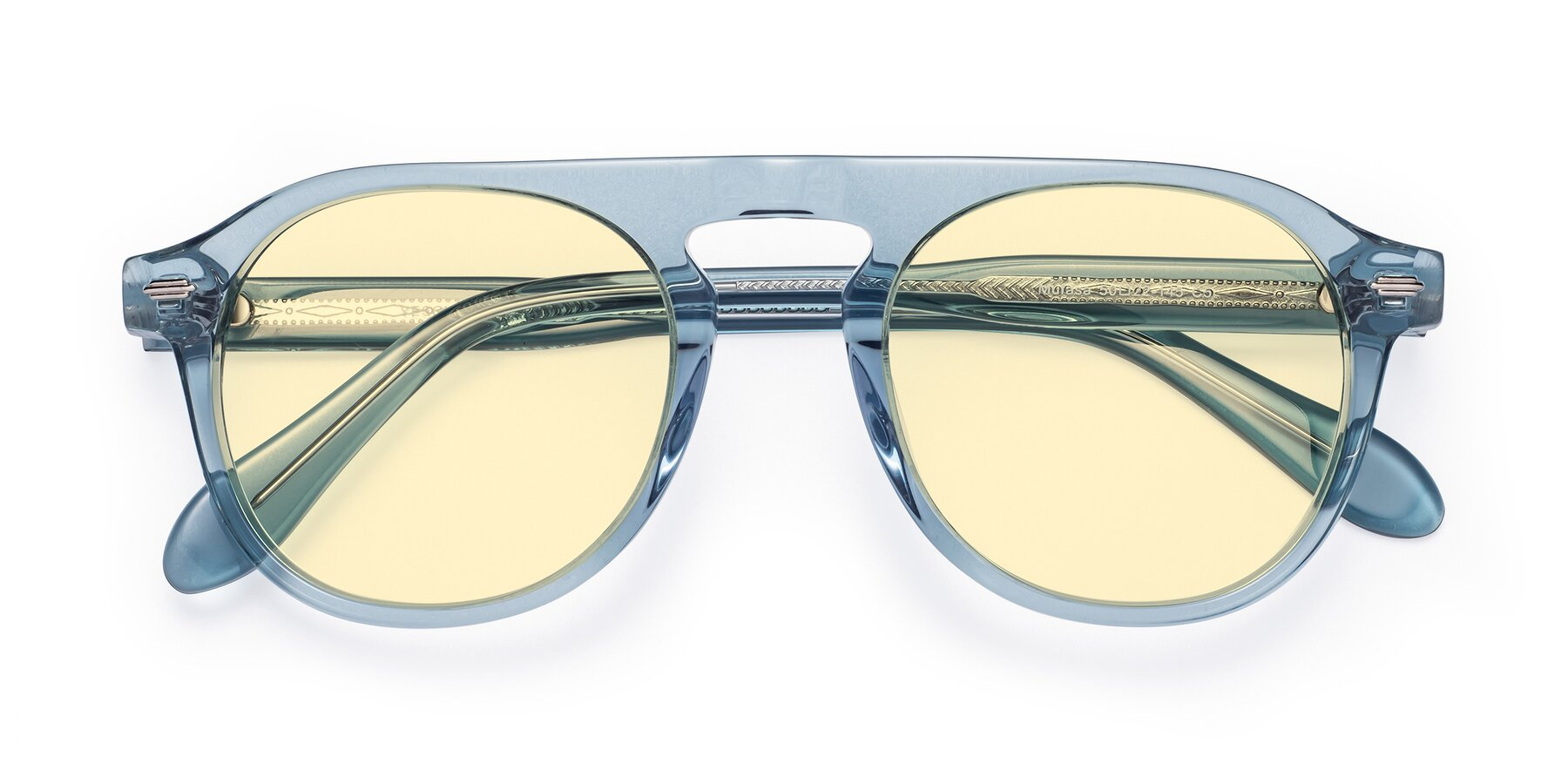 Folded Front of Mufasa in Light Blue with Light Yellow Tinted Lenses