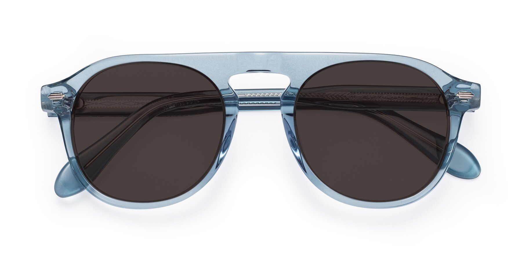 Folded Front of Mufasa in Light Blue with Gray Tinted Lenses