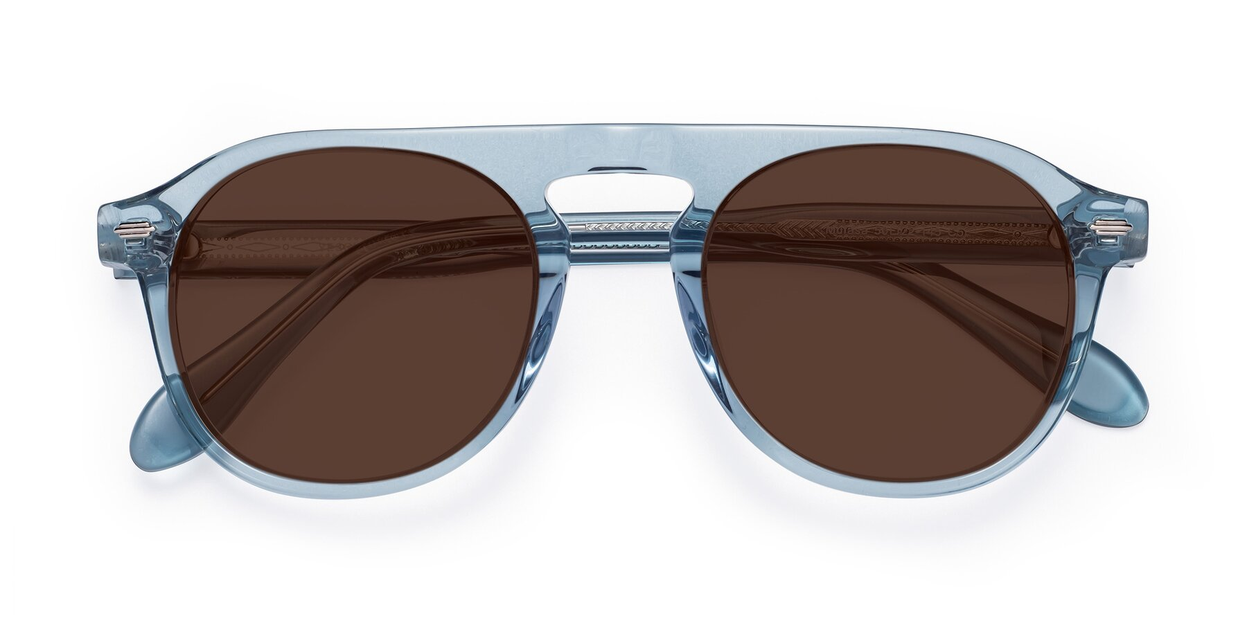 Folded Front of Mufasa in Light Blue with Brown Tinted Lenses