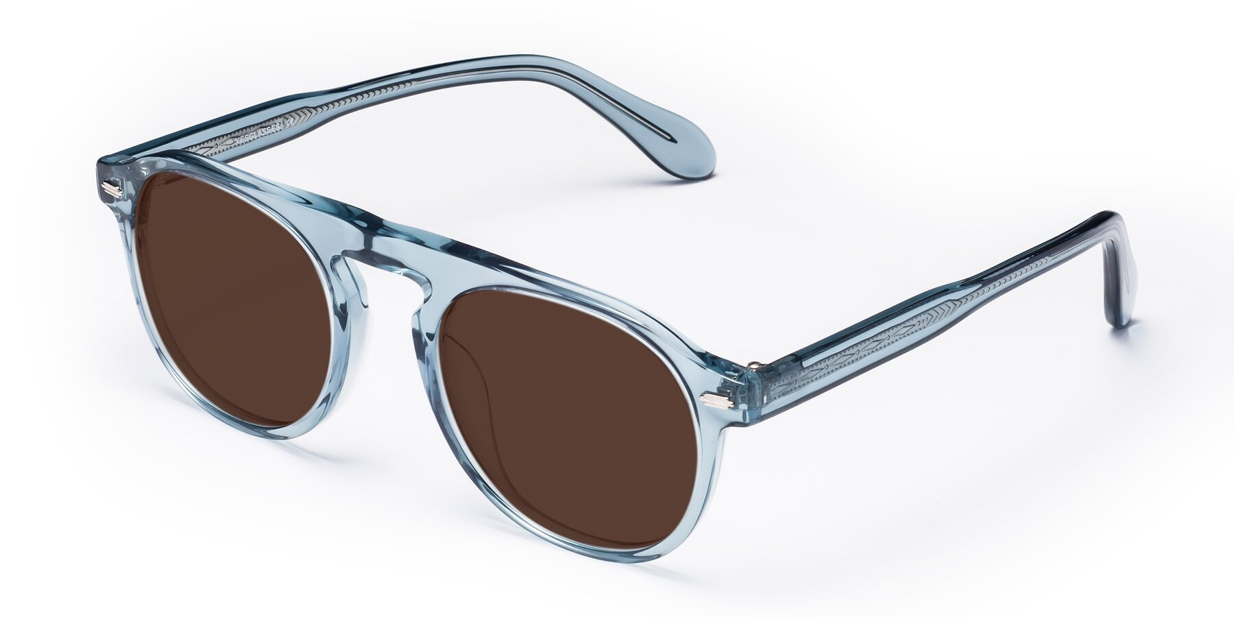 Angle of Mufasa in Light Blue with Brown Tinted Lenses