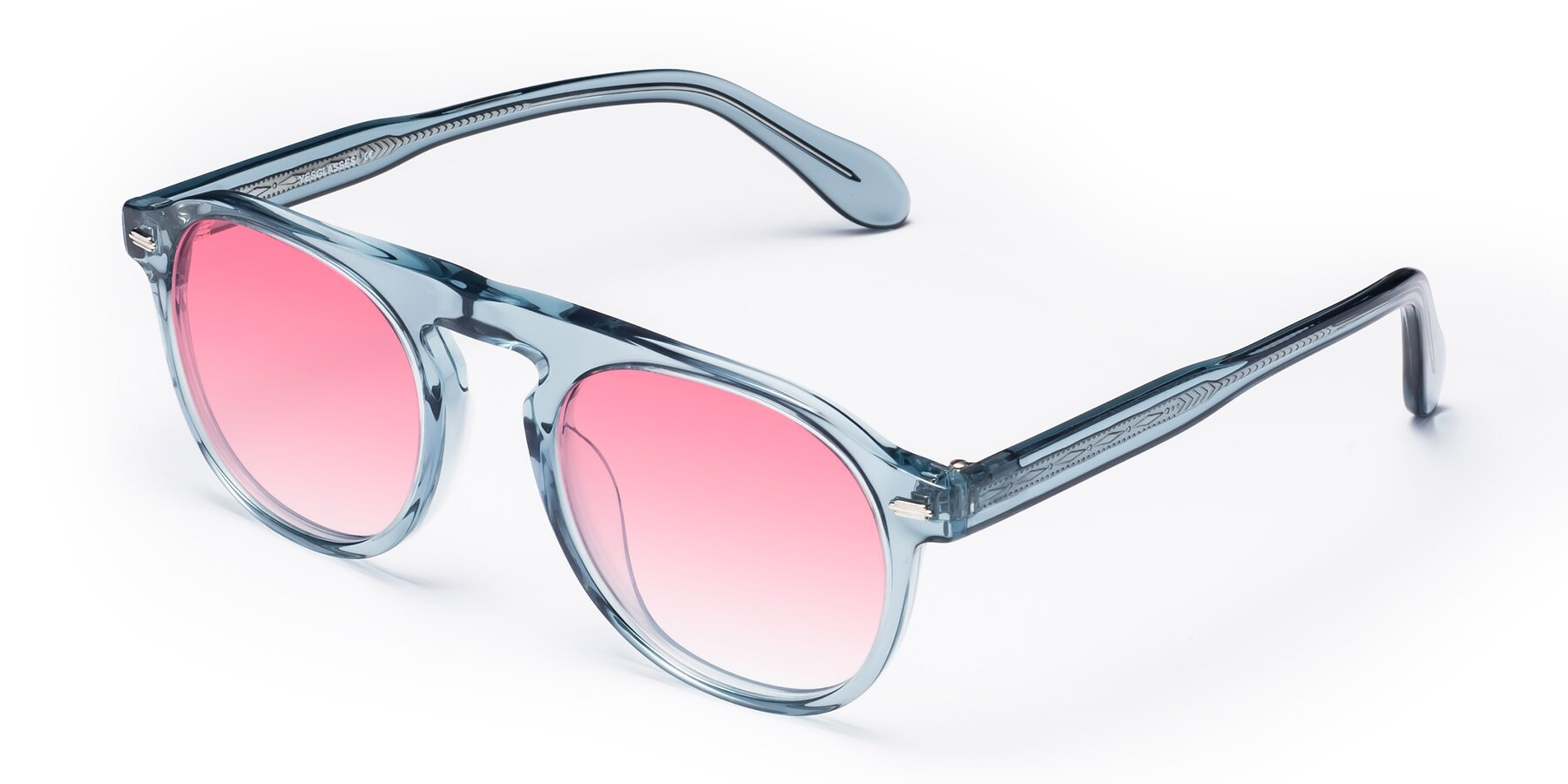 Angle of Mufasa in Light Blue with Pink Gradient Lenses