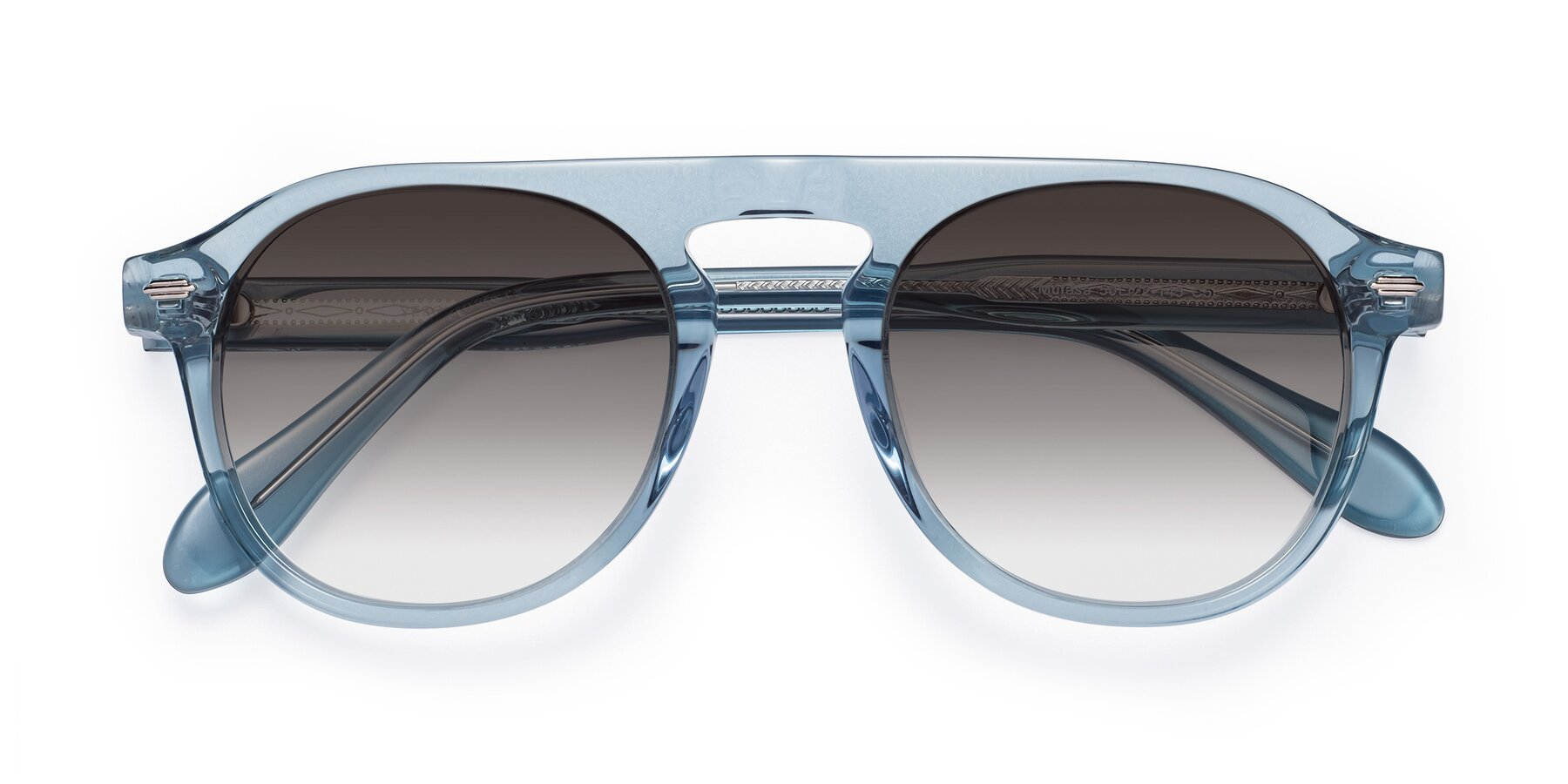 Folded Front of Mufasa in Light Blue with Gray Gradient Lenses